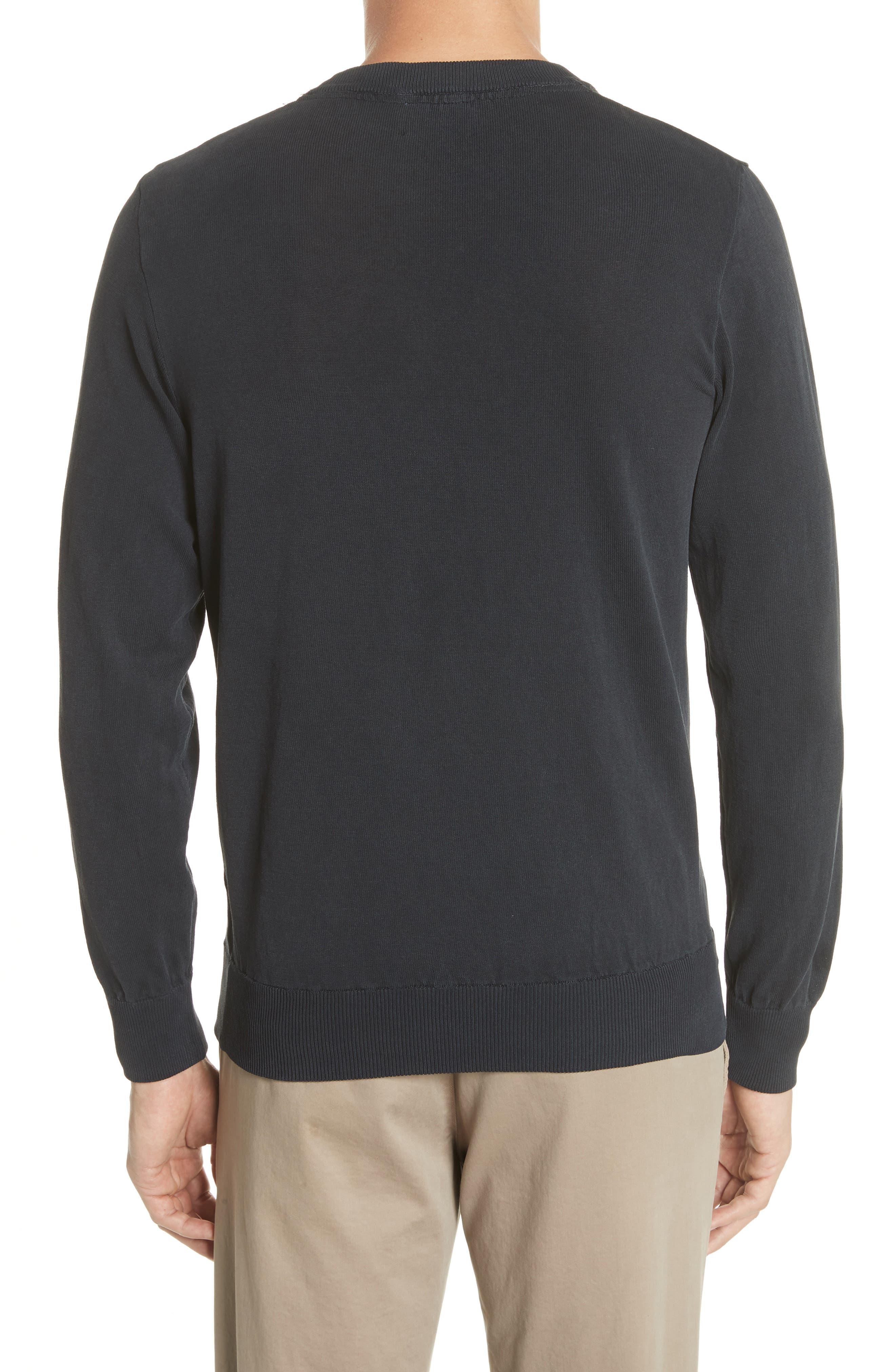 Magnus Combed Cotton Crewneck Sweater,                             Alternate thumbnail 2, color,                             410