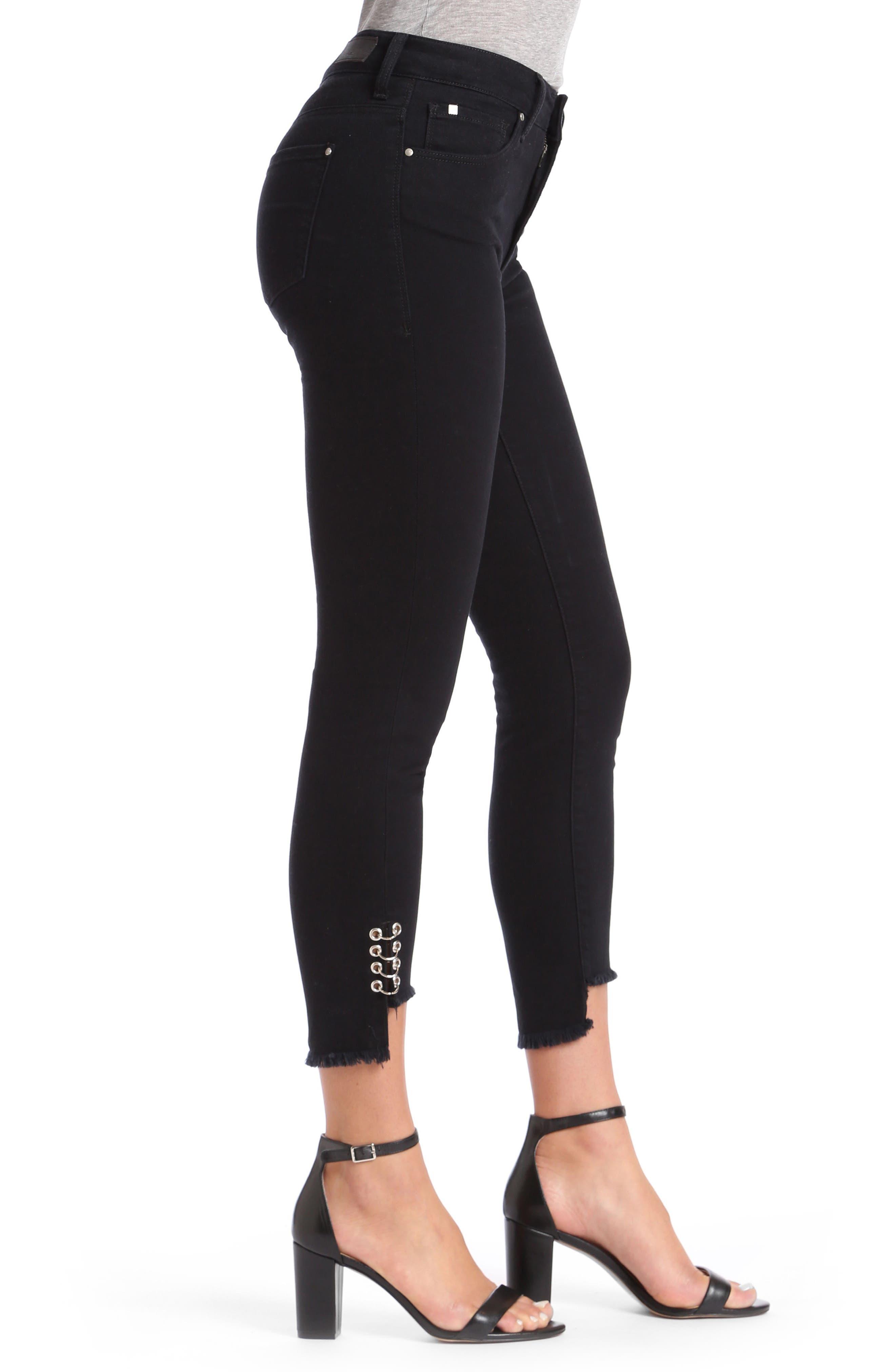 Mavi Tess Super Skinny Black Jeans,                             Alternate thumbnail 3, color,