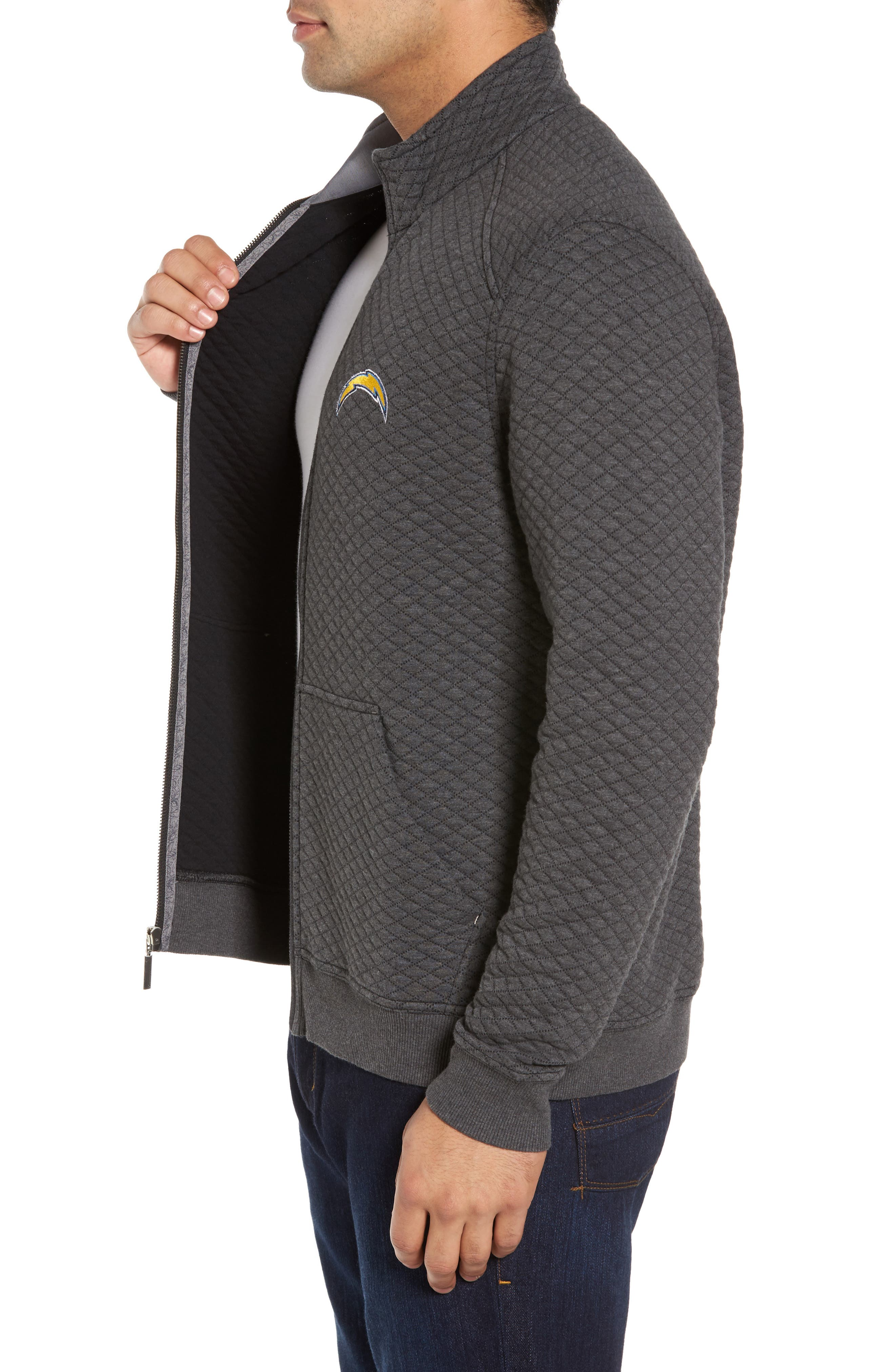 NFL Quiltessential Full Zip Sweatshirt,                             Alternate thumbnail 71, color,
