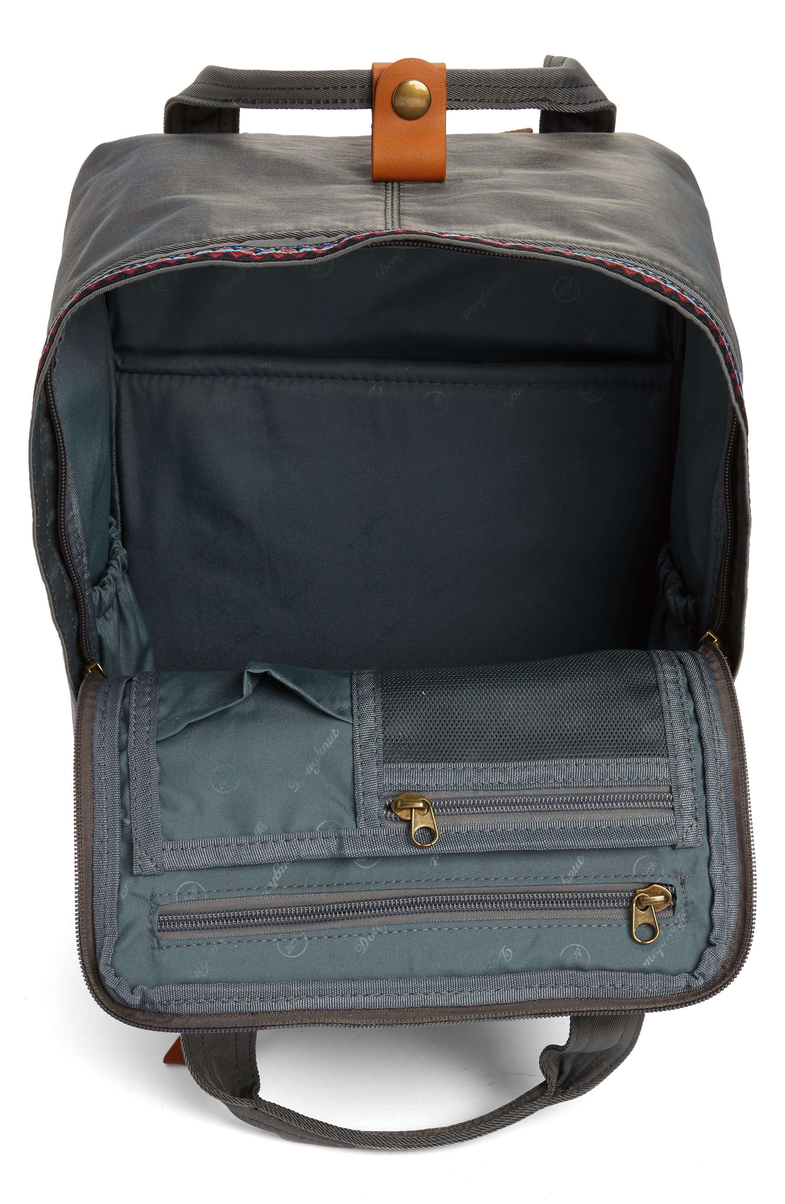 Macaroon Bo-He Water Resistant Backpack,                             Alternate thumbnail 4, color,                             CHARCOAL