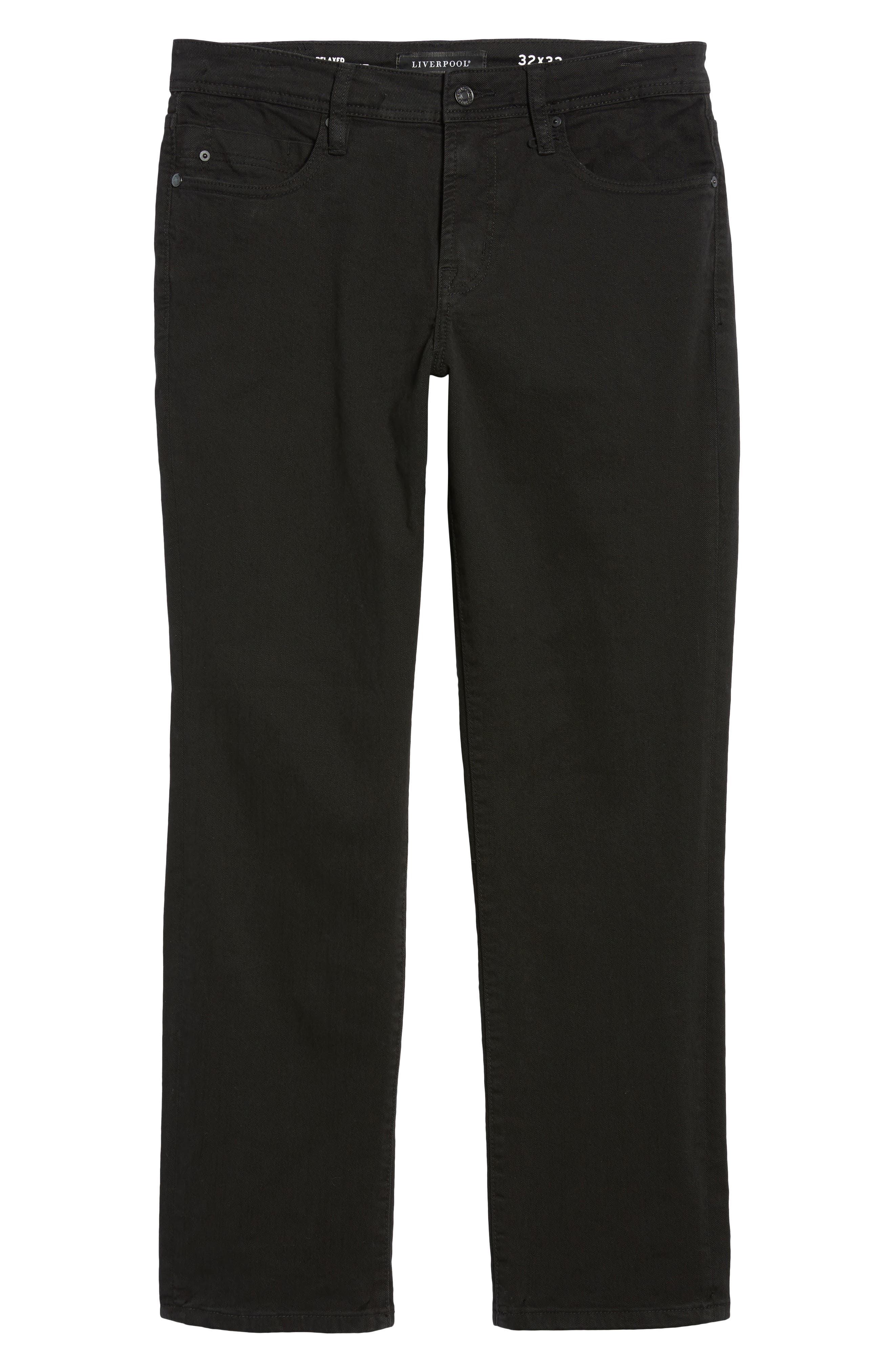 Jeans Co. Regent Relaxed Fit Jeans,                             Alternate thumbnail 6, color,                             BLACK RINSE