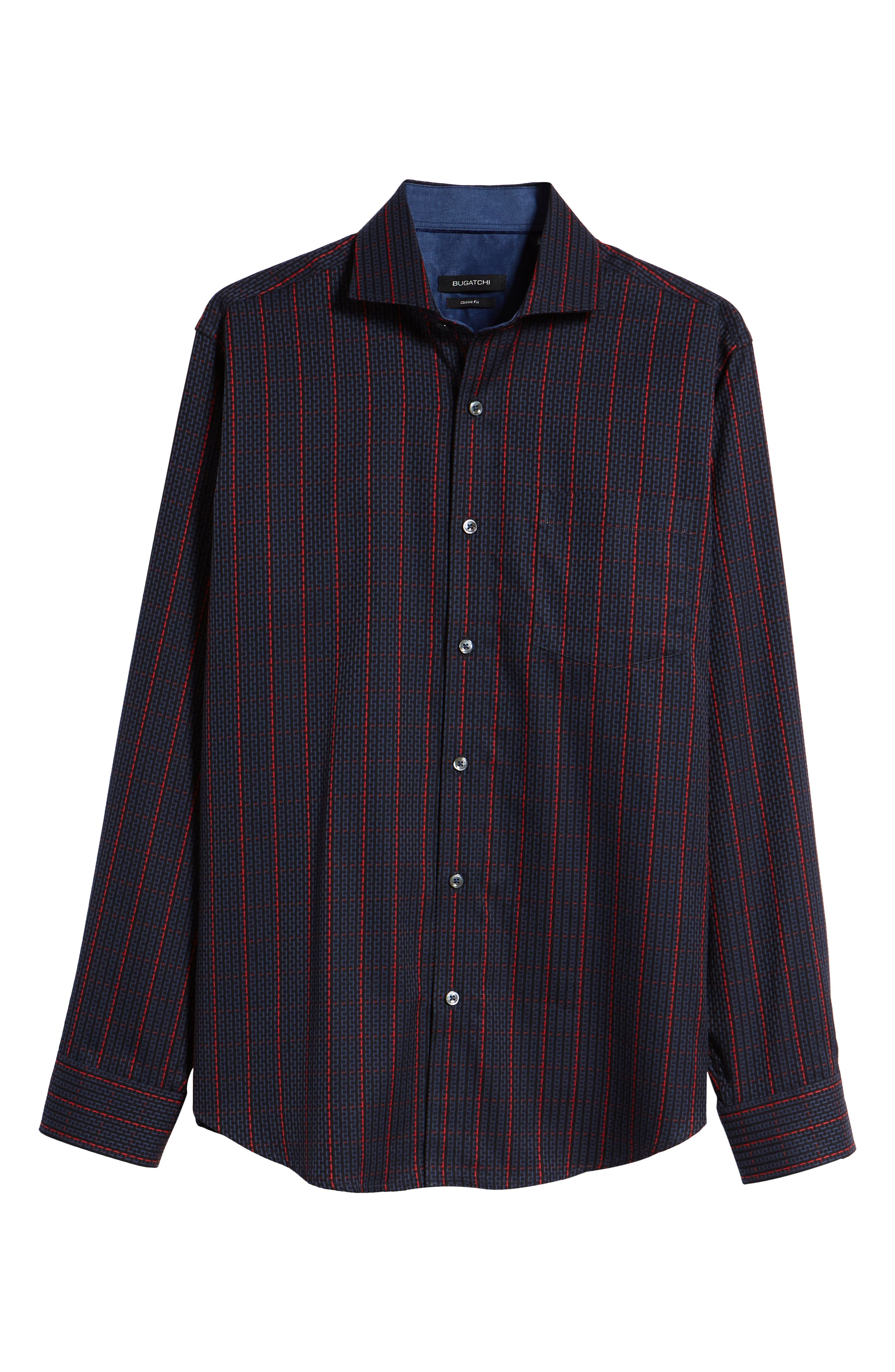 Classic Fit Woven Sport Shirt,                             Alternate thumbnail 5, color,                             408