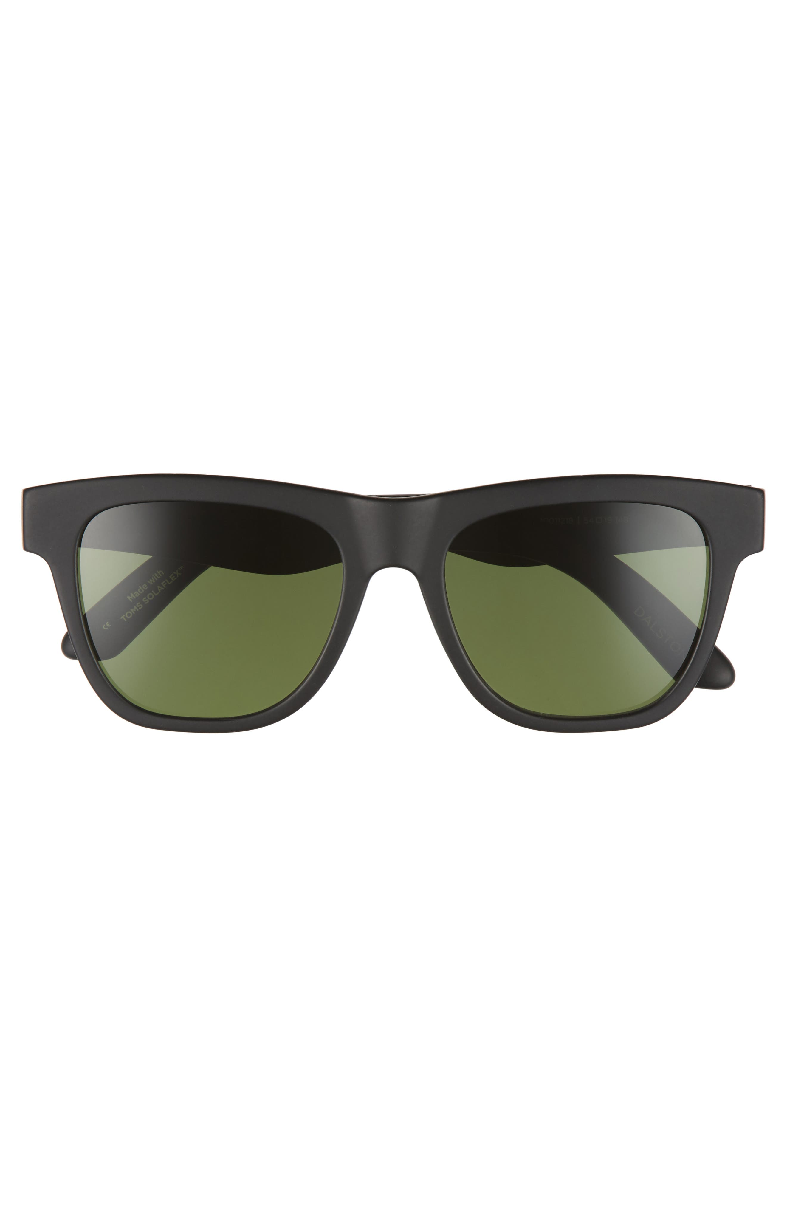 Dalston 54mm Polarized Sunglasses,                             Alternate thumbnail 2, color,                             MATTE BLACK POLAR