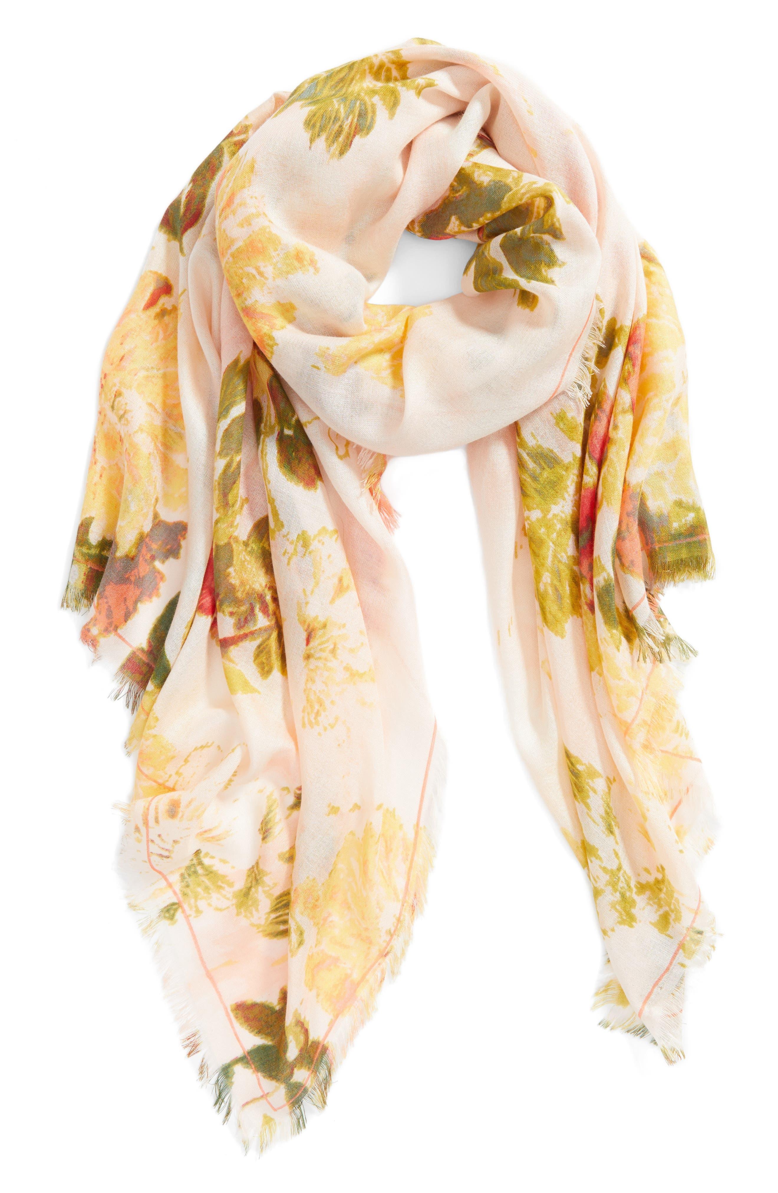 Eyelash Trim Print Cashmere & Silk Wrap,                             Alternate thumbnail 68, color,