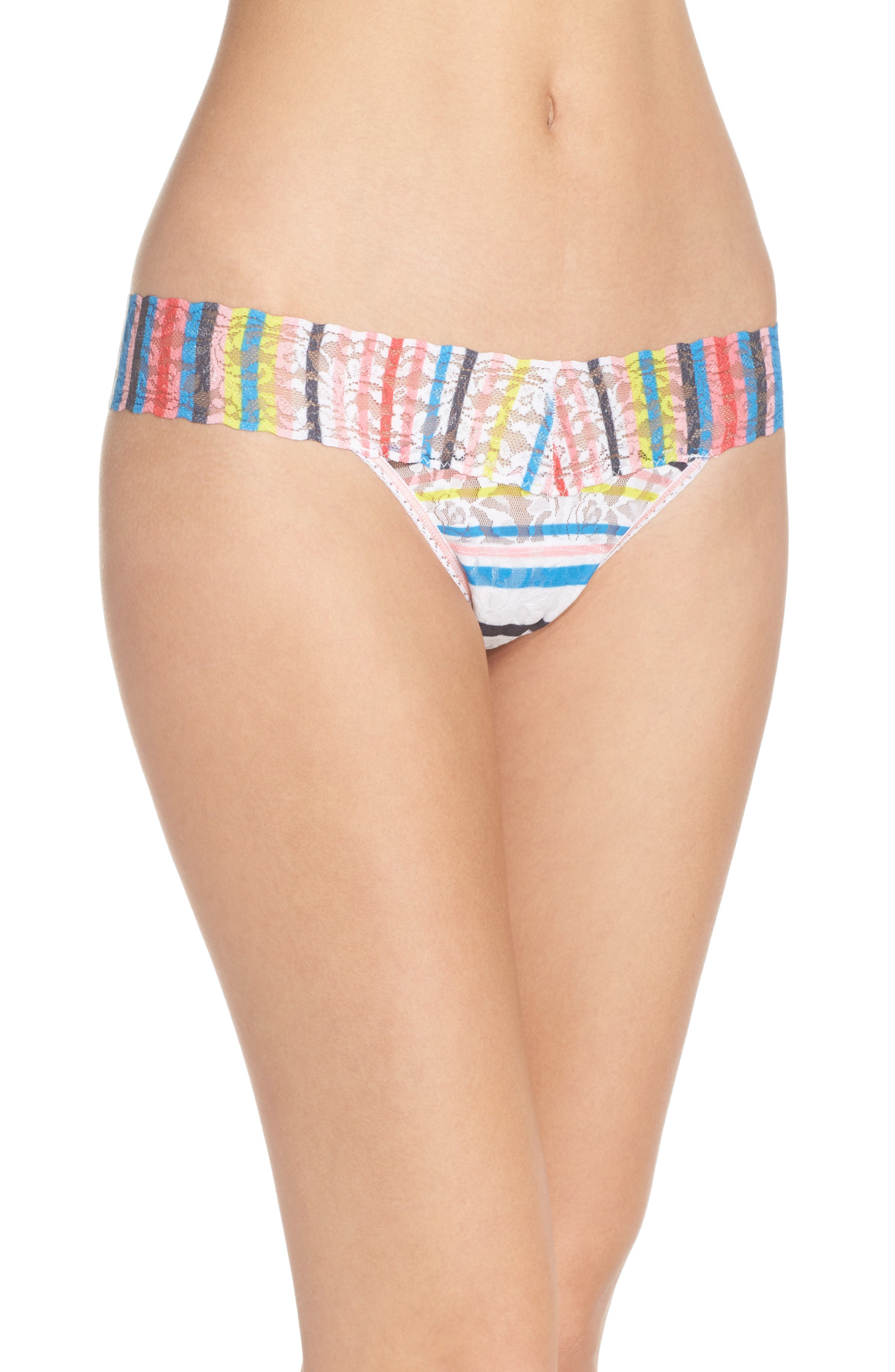 Print Low Rise Thong,                             Main thumbnail 12, color,