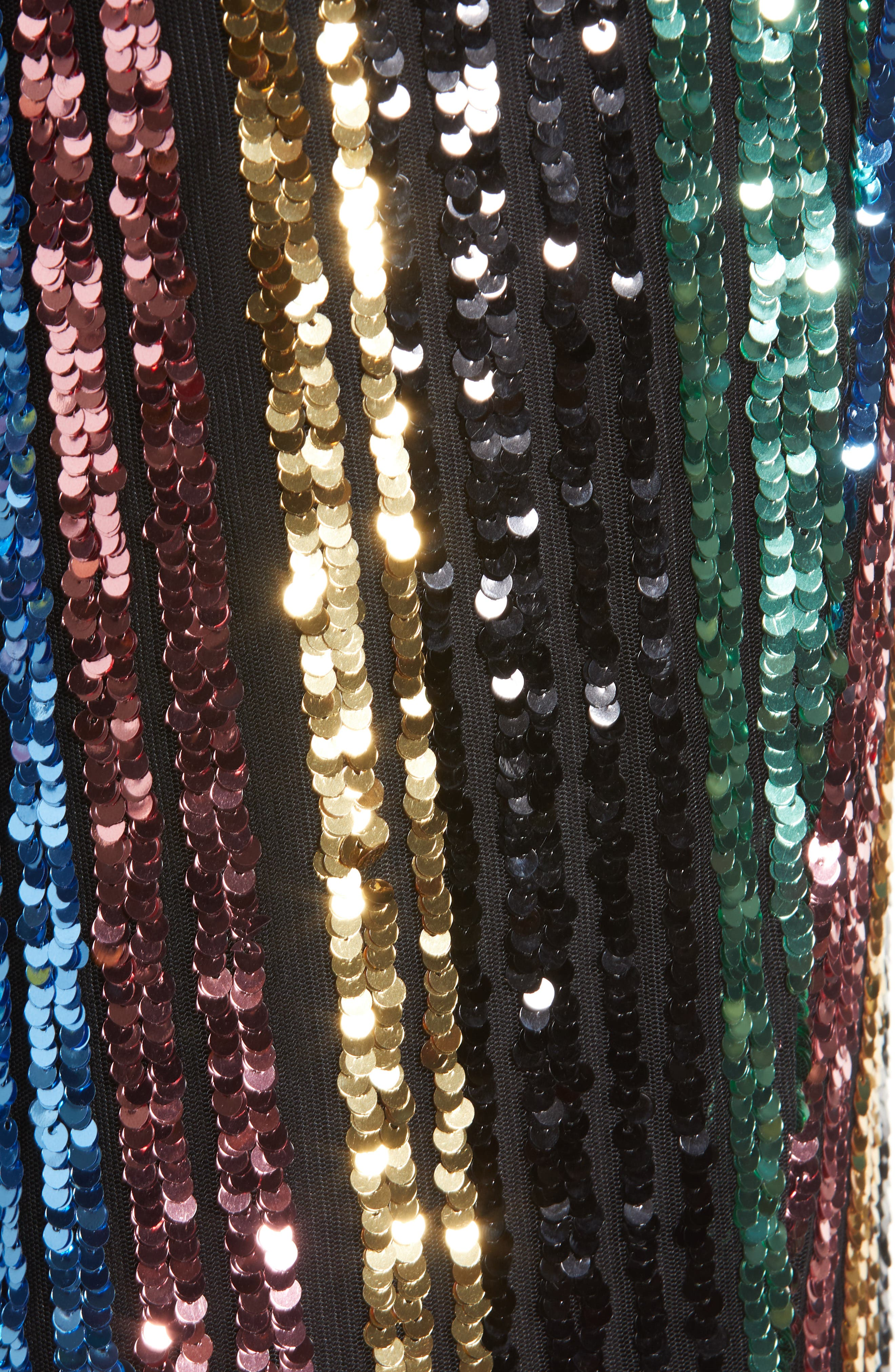 Leigh High Waist Sequin Stripe Pants,                             Alternate thumbnail 6, color,                             COCKTAIL STRIPE SEQUINS