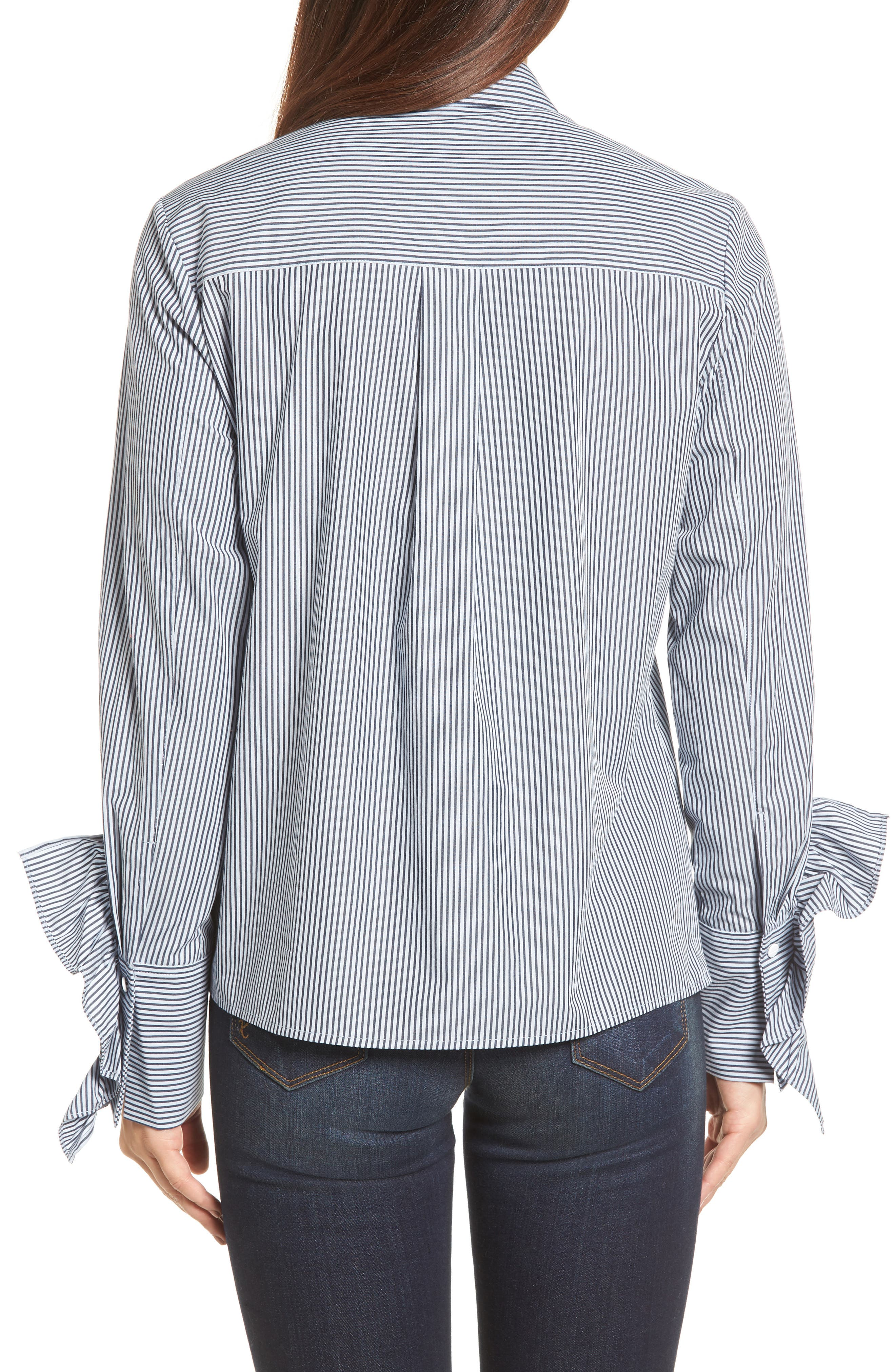 Ruffle Poplin Shirt,                             Alternate thumbnail 2, color,                             460