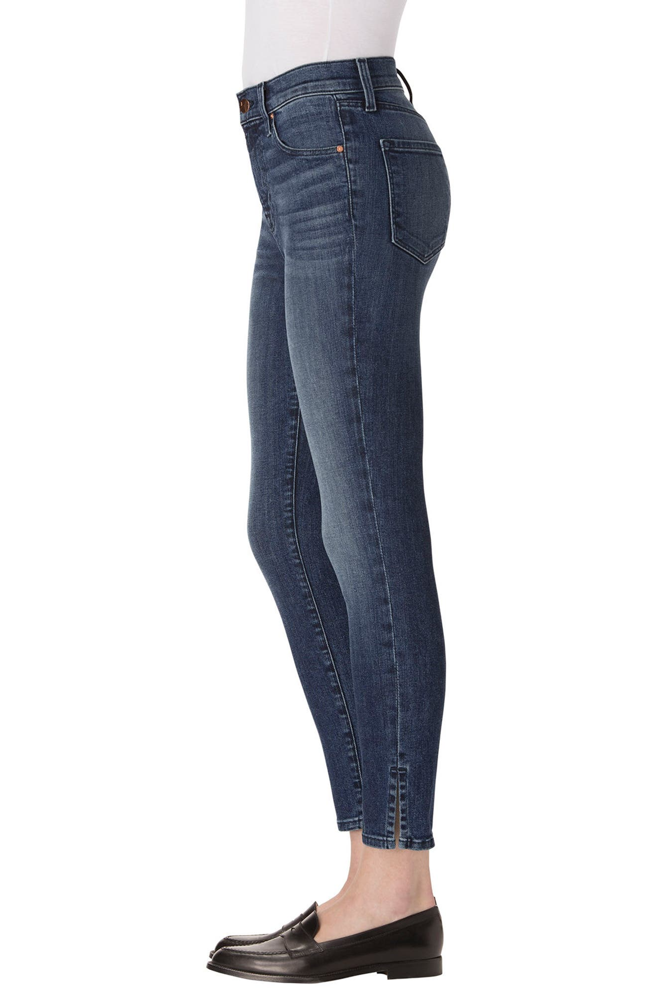 Alana High Waist Crop Skinny Jeans,                             Alternate thumbnail 3, color,                             403