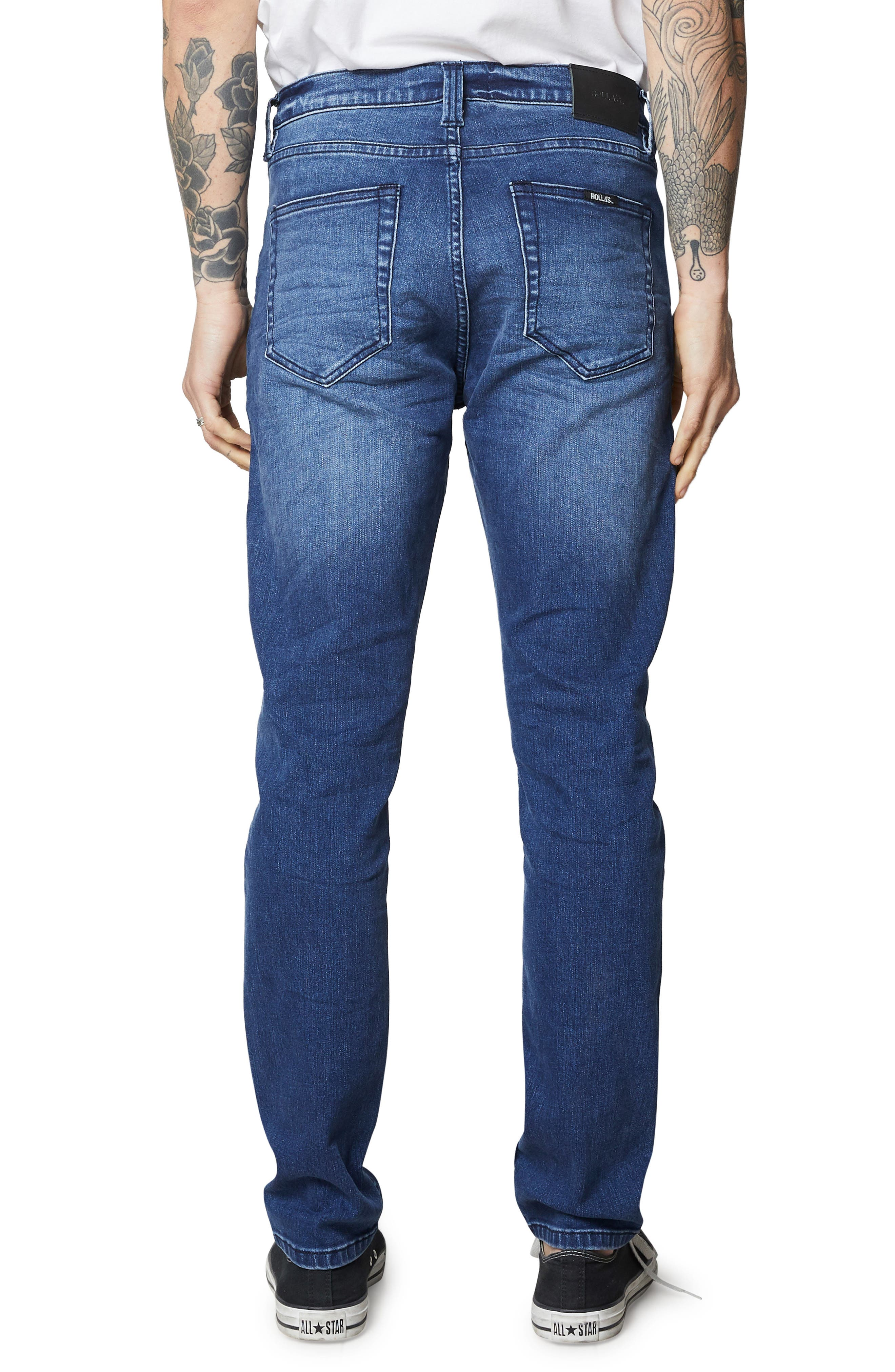 ROLLA'S,                             Tim Slims Slim Fit Jeans,                             Alternate thumbnail 2, color,                             FOSTERS BLUE