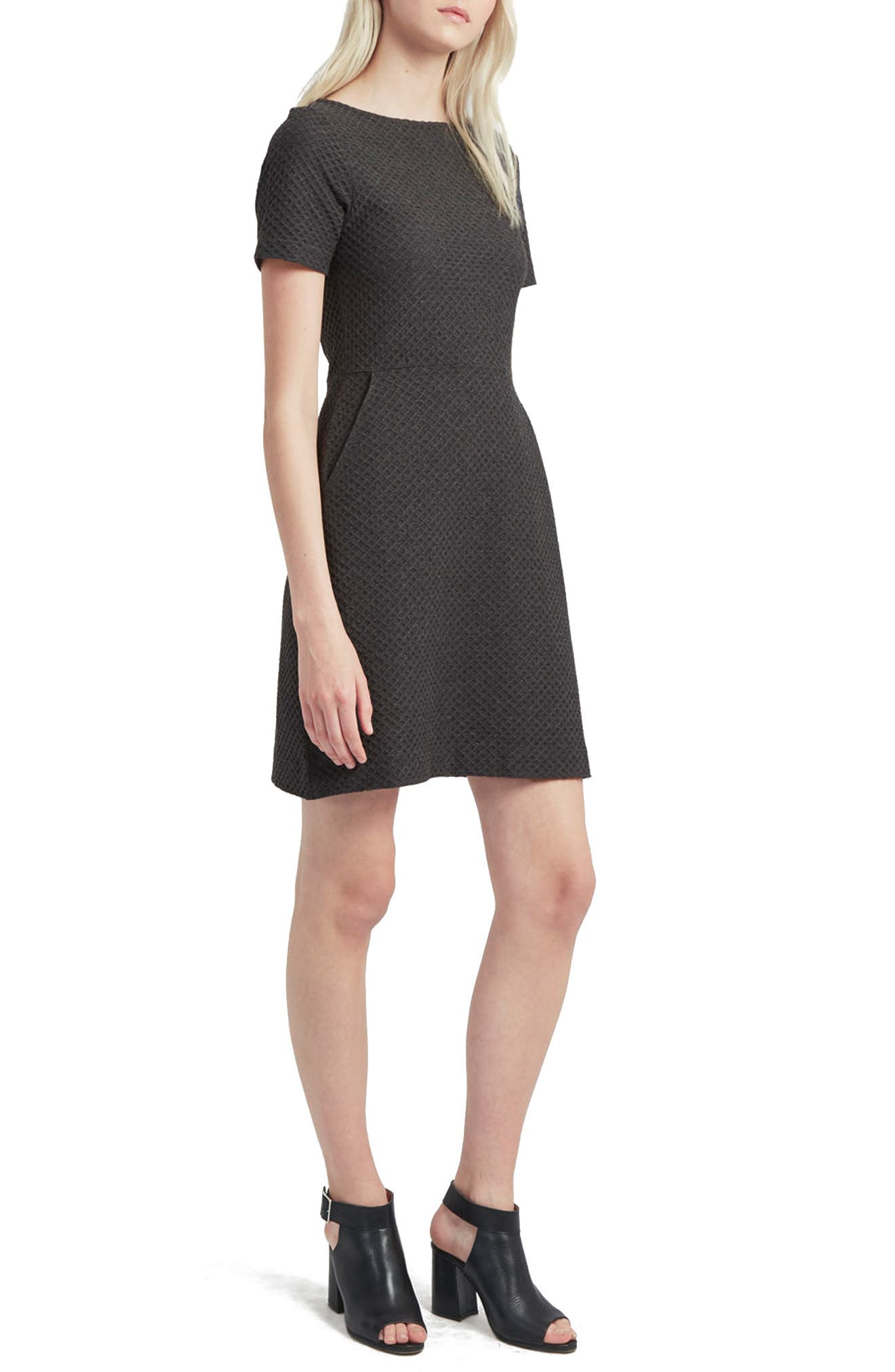 French Connection Dixie Fit & Flare Dress, Grey