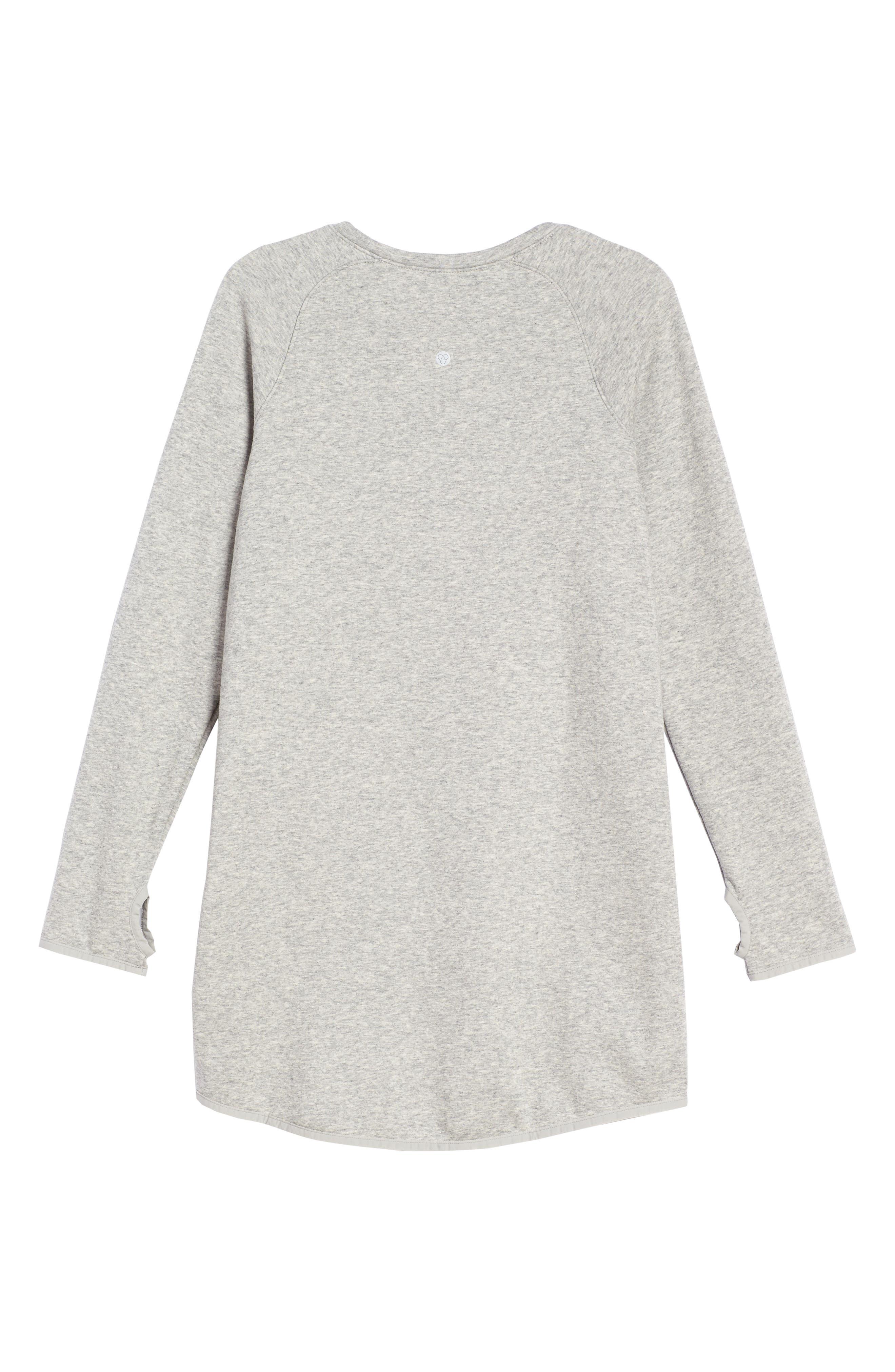 Zipper Sweatshirt Dress,                             Alternate thumbnail 4, color,