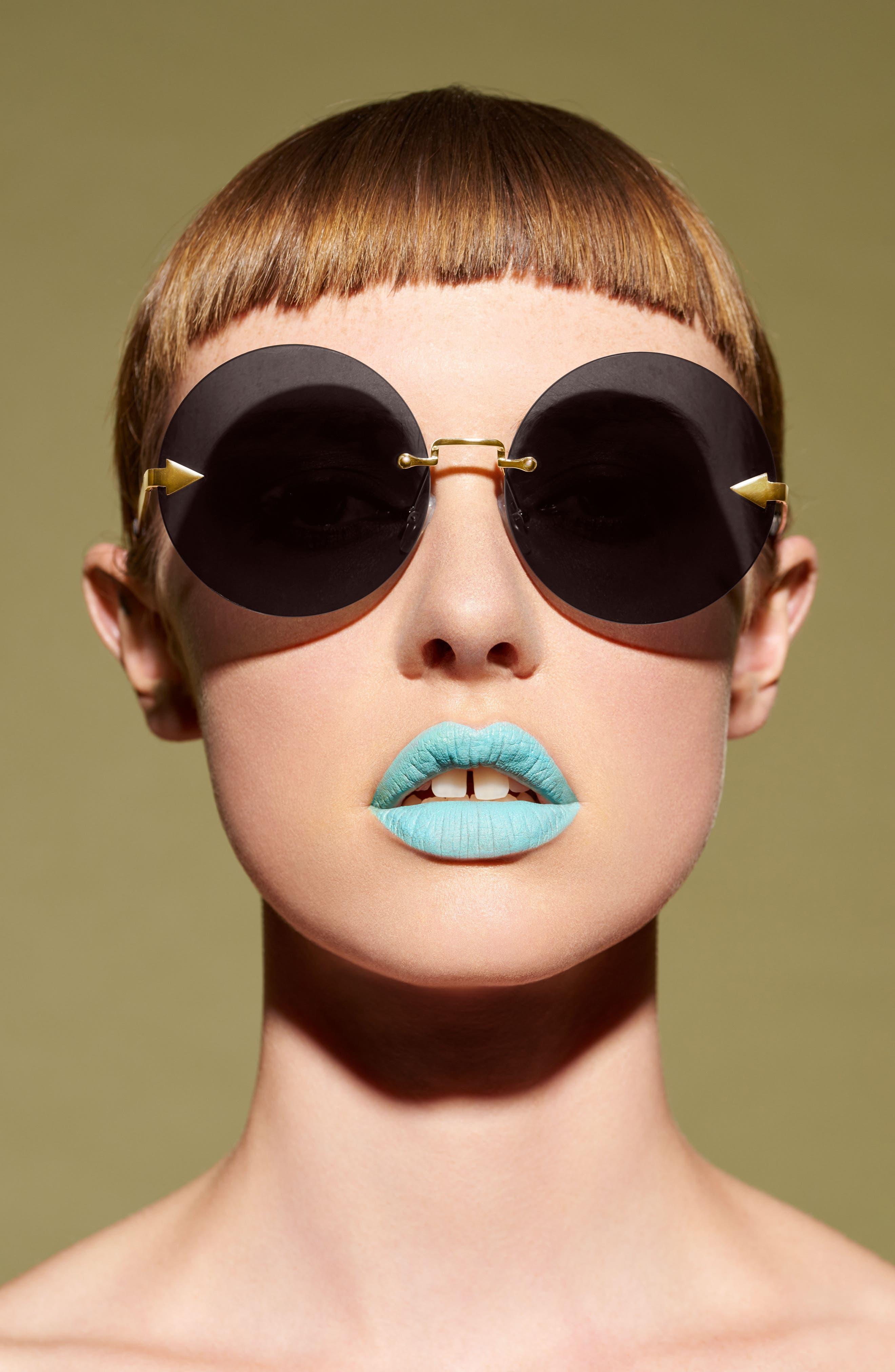 Disco Circus 60mm Rimless Round Sunglasses,                             Alternate thumbnail 13, color,