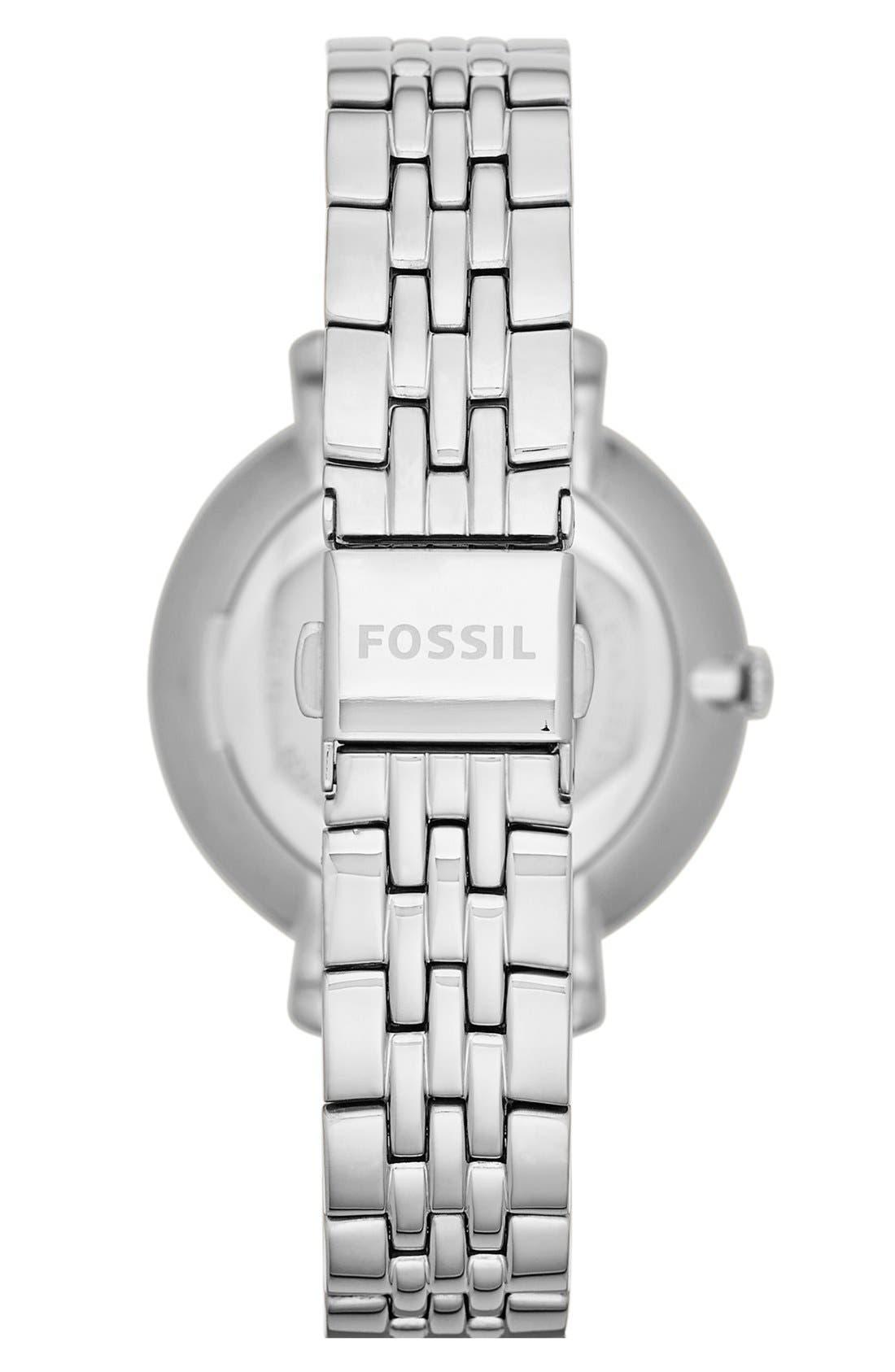 'Jacqueline' Round Bracelet Watch, 36mm,                             Alternate thumbnail 3, color,                             SILVER