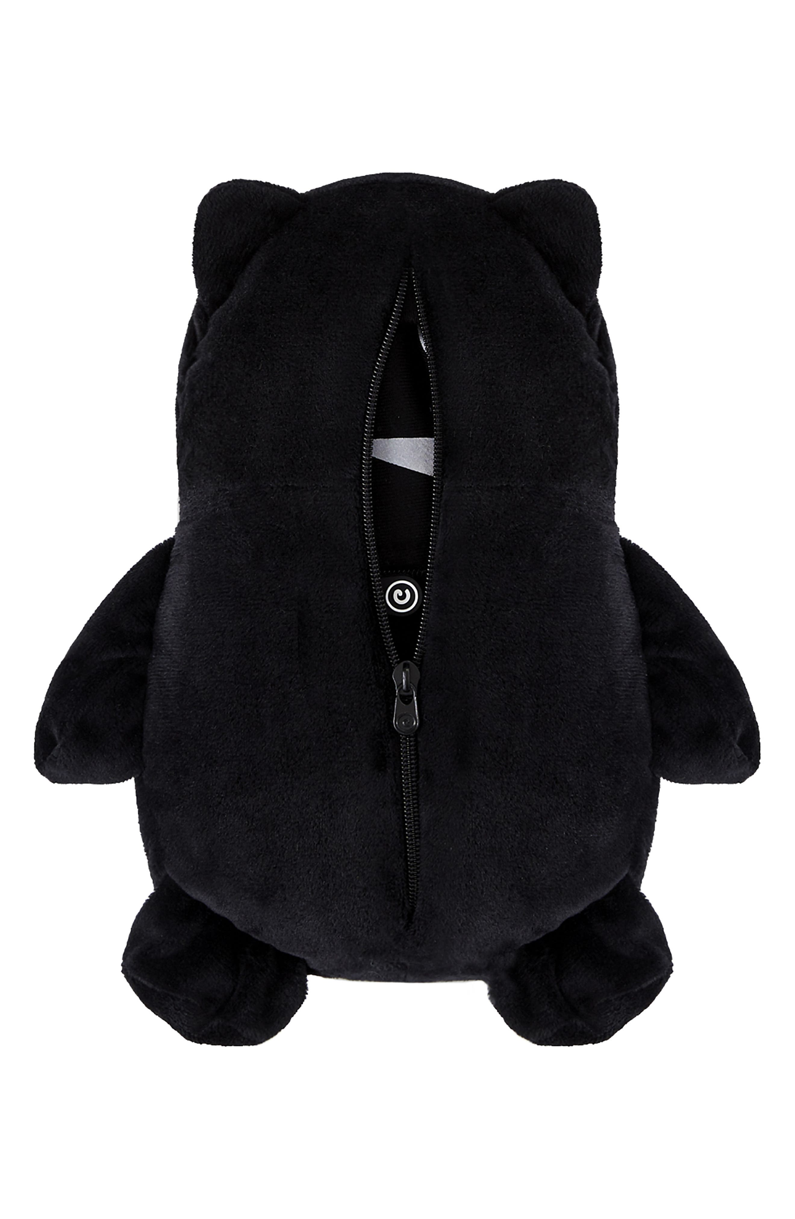 Marvel<sup>®</sup> 2018 Black Panther<sup>®</sup> 2-in-1 Stuffed Animal Hoodie,                             Alternate thumbnail 4, color,                             BLACK