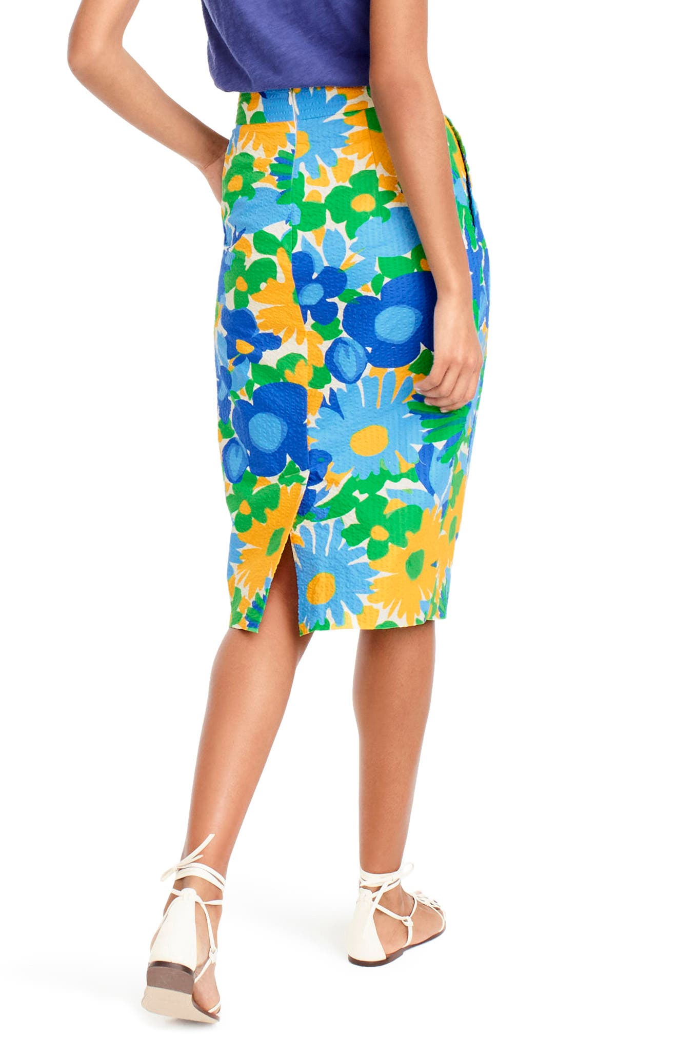 Morning Floral Tie Waist Skirt,                             Alternate thumbnail 3, color,                             300