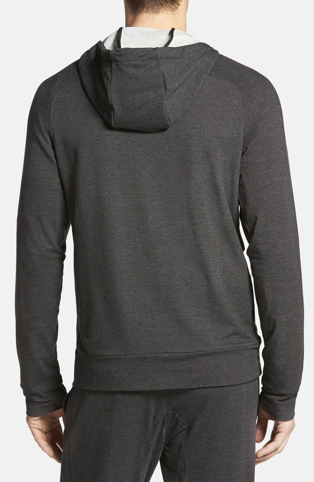 NIKE,                             Dri-FIT Touch Fleece Full Zip Hoodie,                             Alternate thumbnail 3, color,                             010