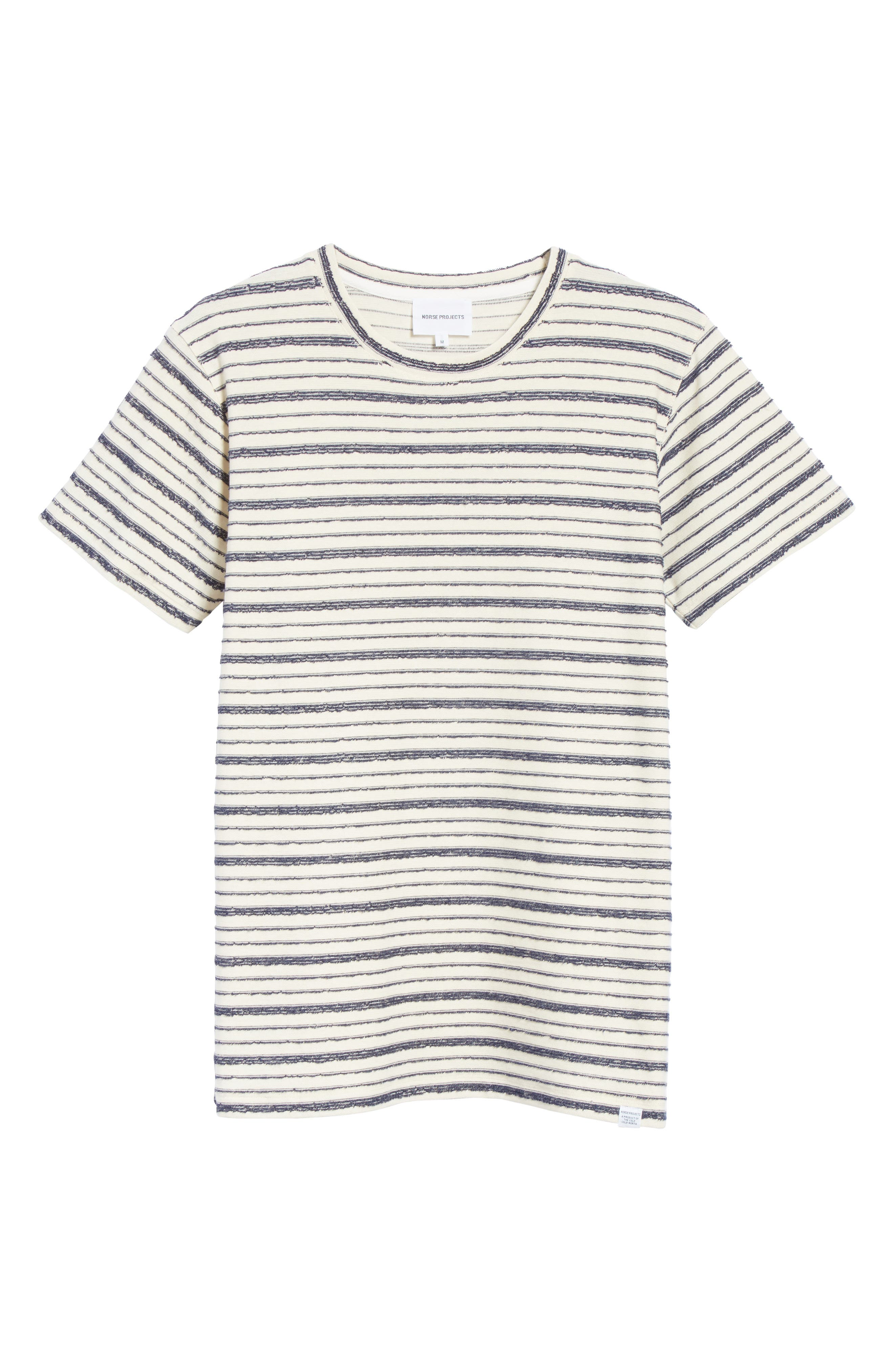Niels Textured Stripe T-Shirt,                             Alternate thumbnail 6, color,                             DARK NAVY