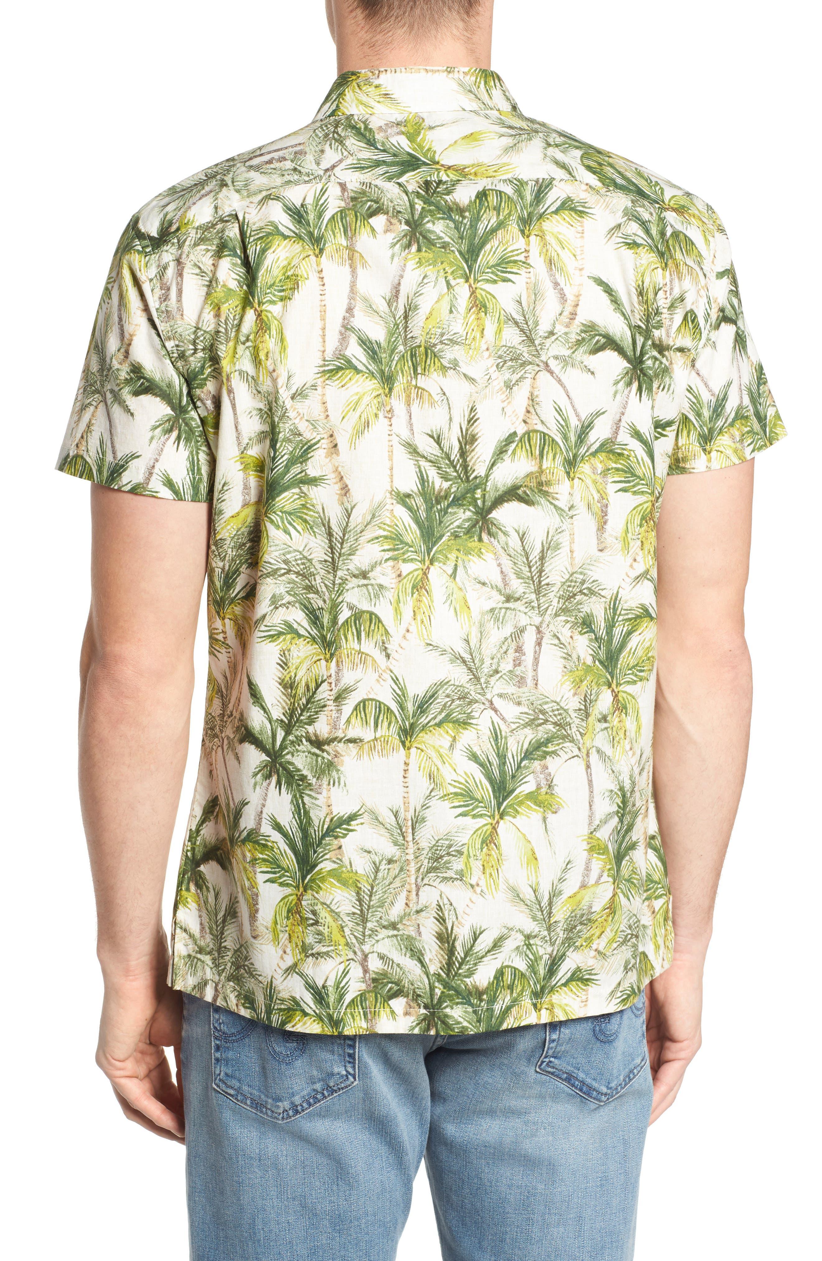 Coco Vida Trim Fit Print Cotton Lawn Sport Shirt,                             Alternate thumbnail 2, color,                             102