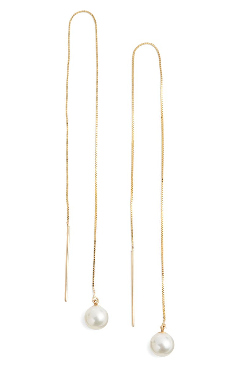 poppy finch long pearl threader earrings nordstrom