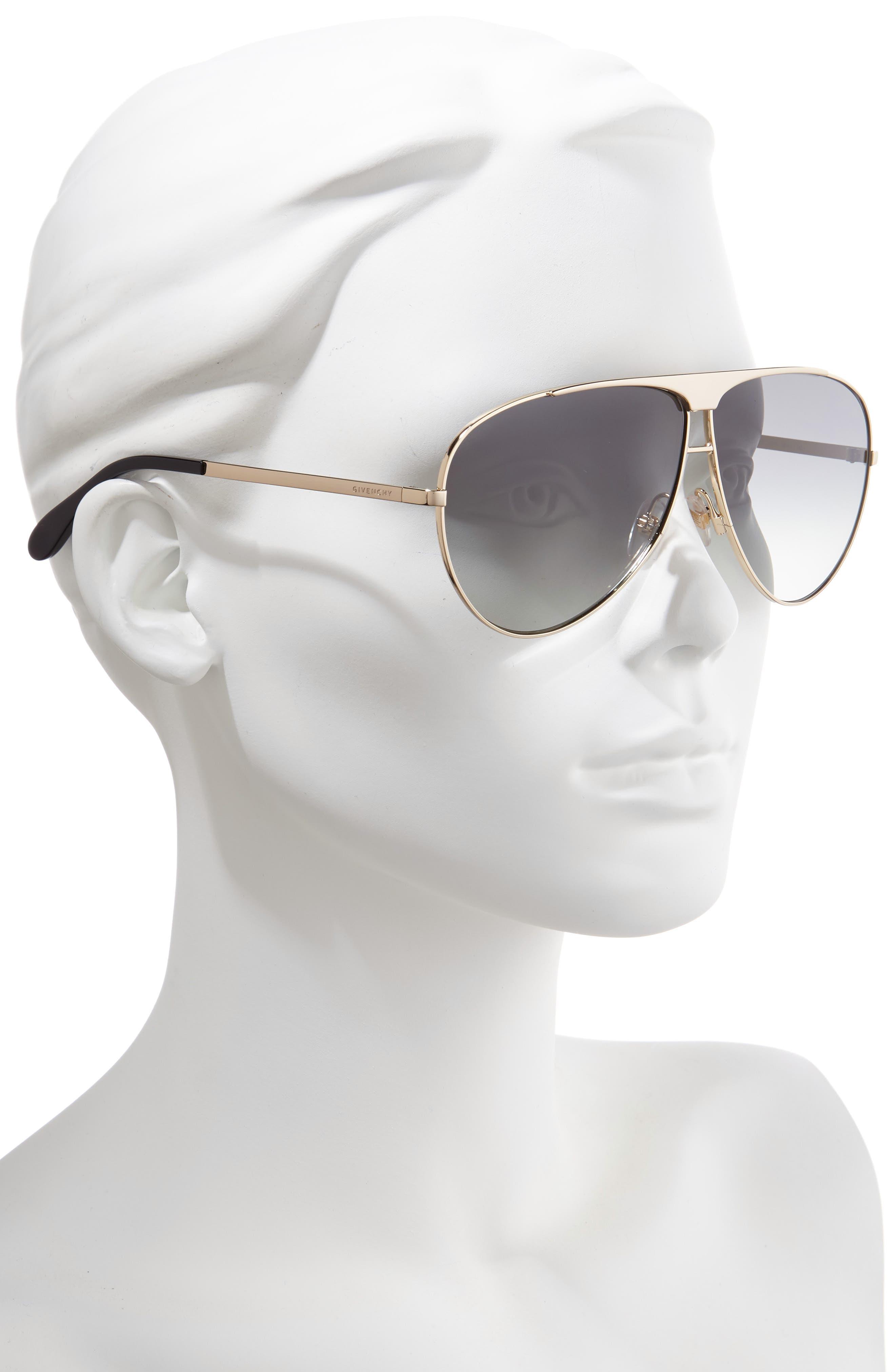66mm Aviator Sunglasses,                             Alternate thumbnail 2, color,                             710