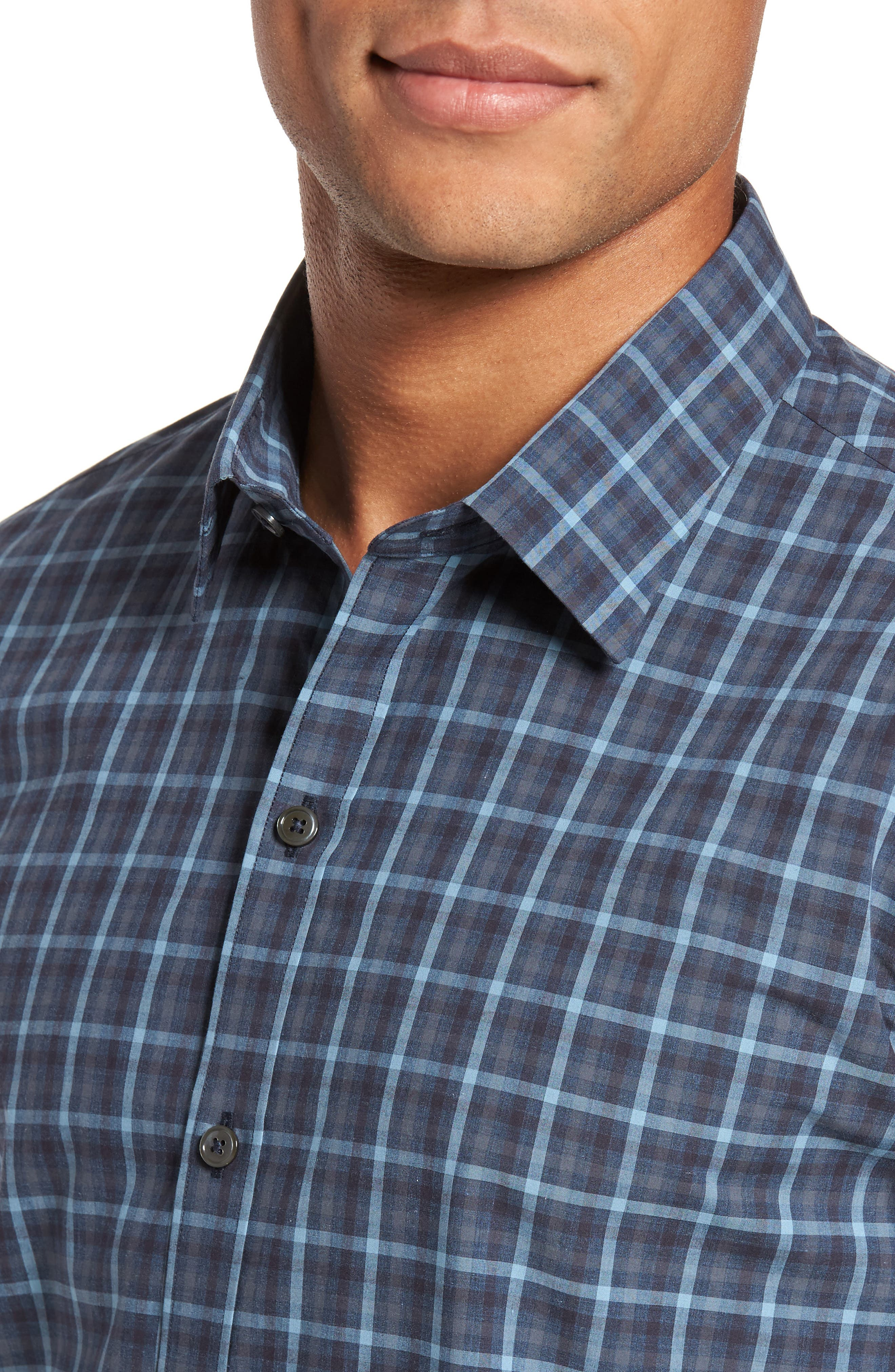 Lozado Check Sport Shirt,                             Alternate thumbnail 4, color,                             400