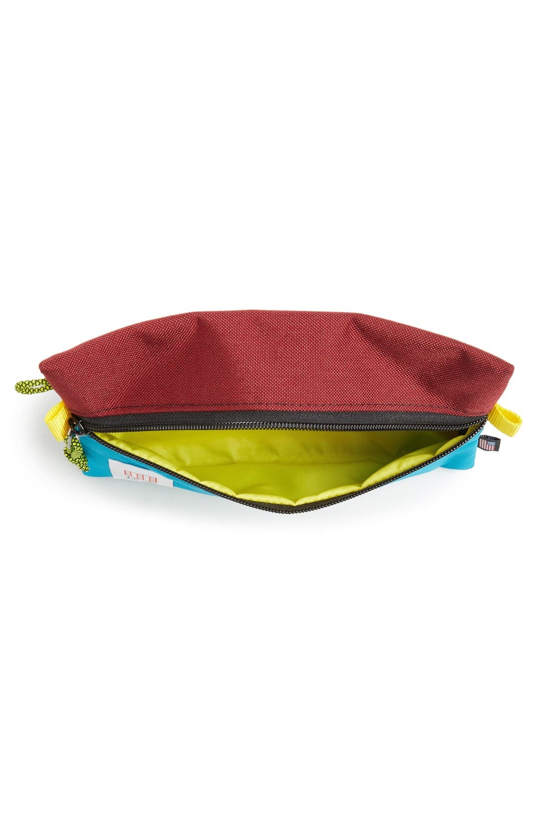 TopoDesigns Accessory Bag,                             Alternate thumbnail 4, color,                             BURGUNDY/ TURQUOISE