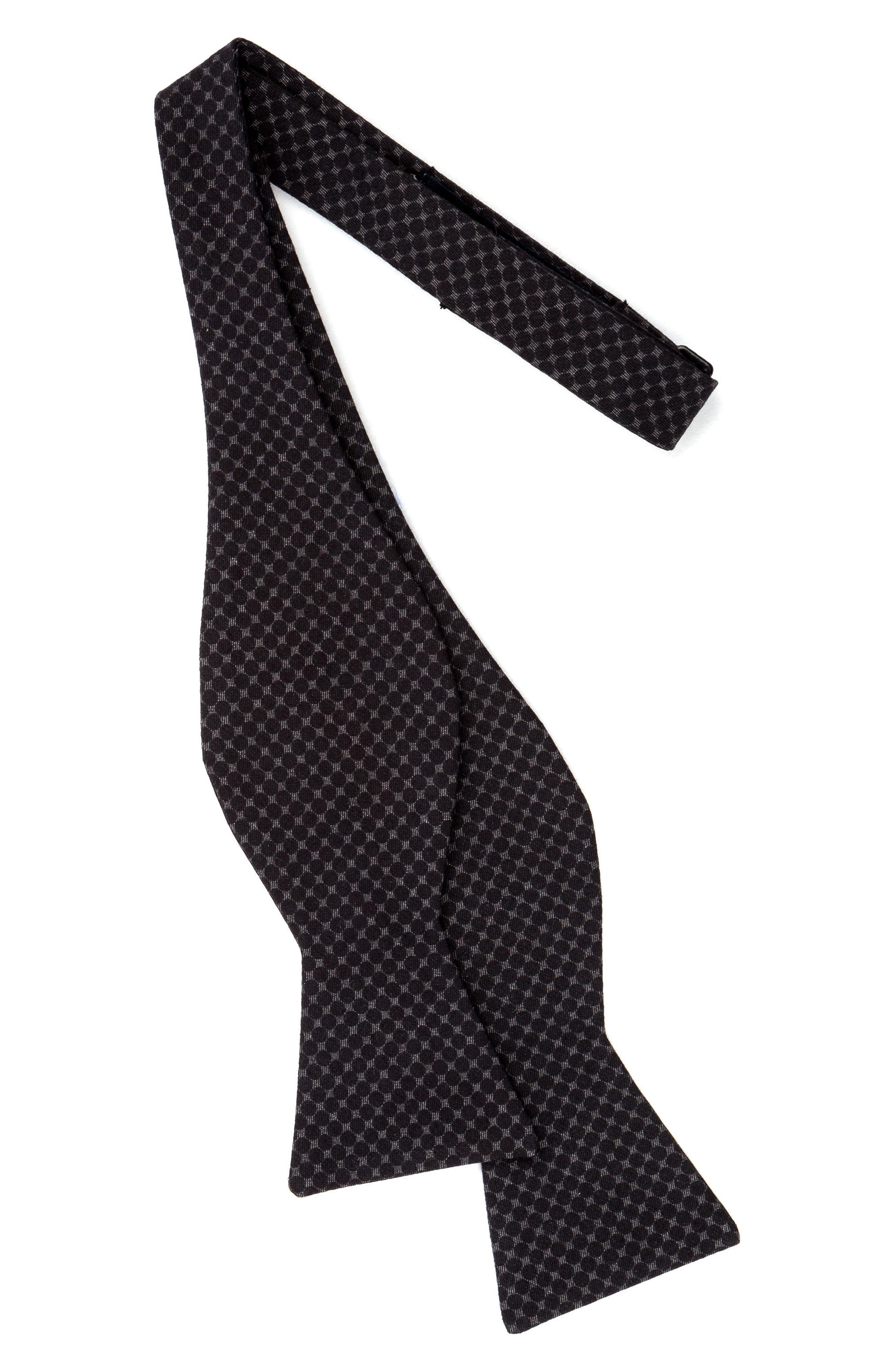 Denim Cotton Bow Tie,                             Alternate thumbnail 2, color,                             003