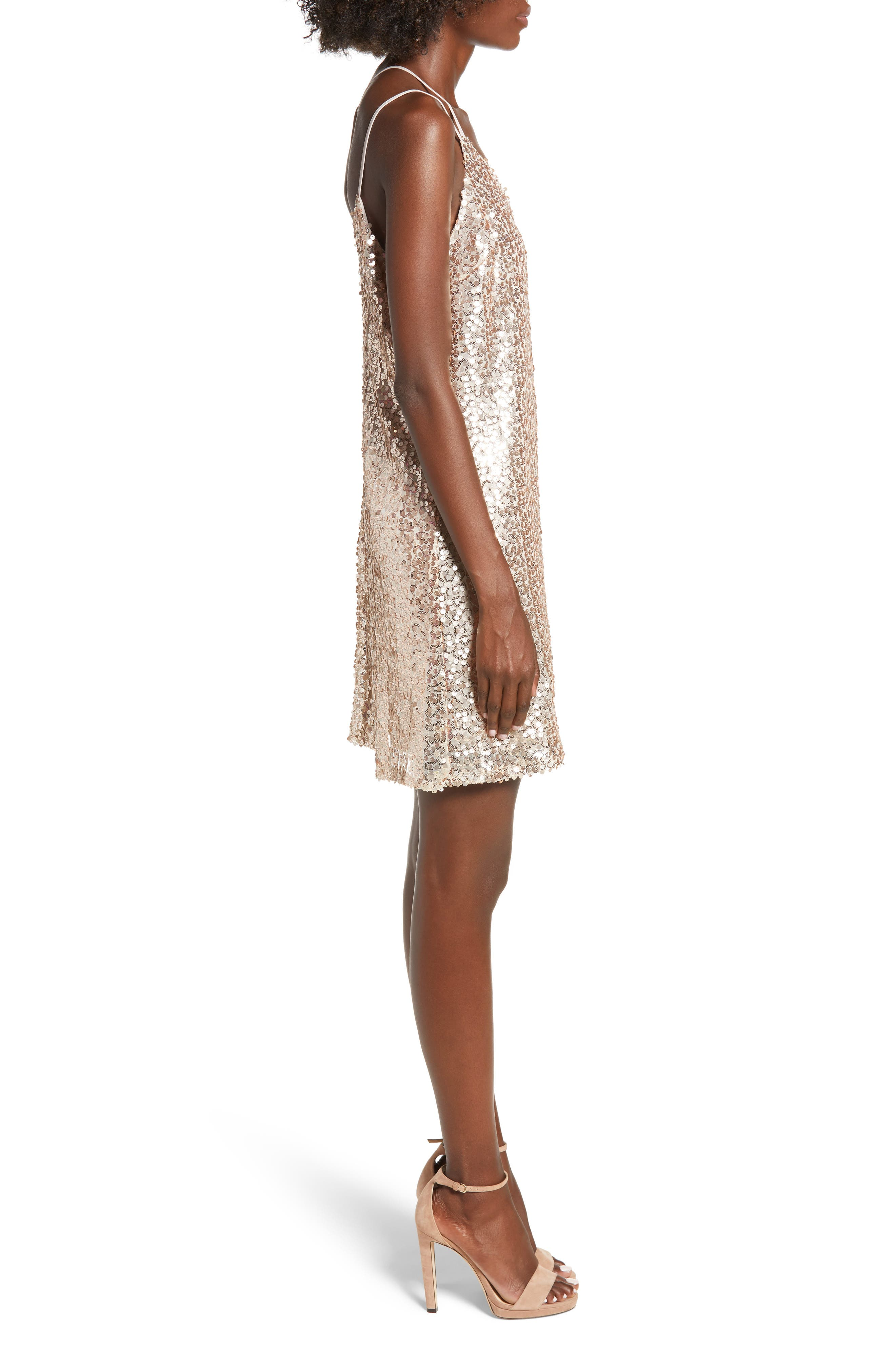 Strappy Sequin Slipdress,                             Alternate thumbnail 3, color,                             710