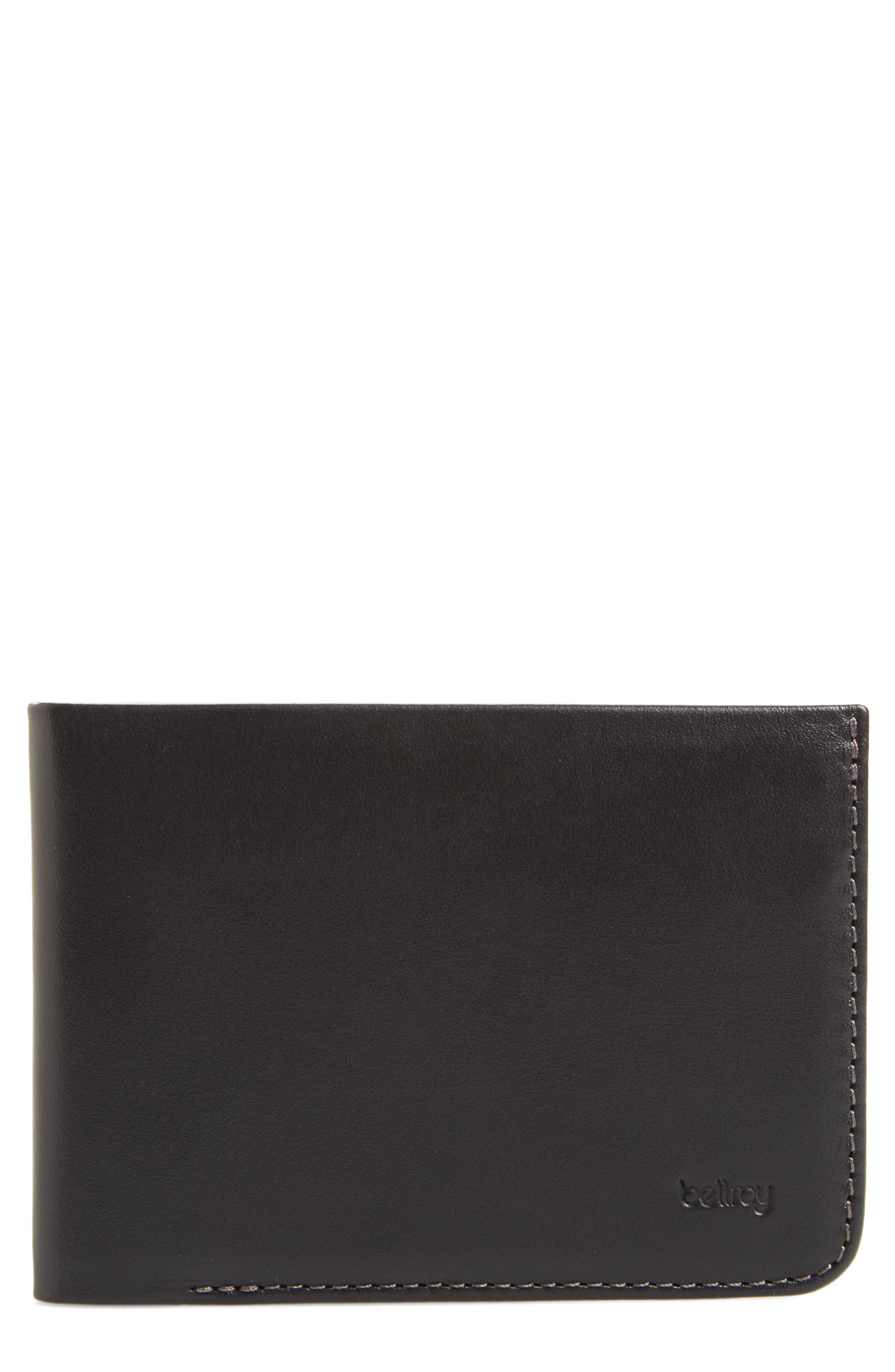 Low Down Leather Wallet,                             Main thumbnail 1, color,                             001