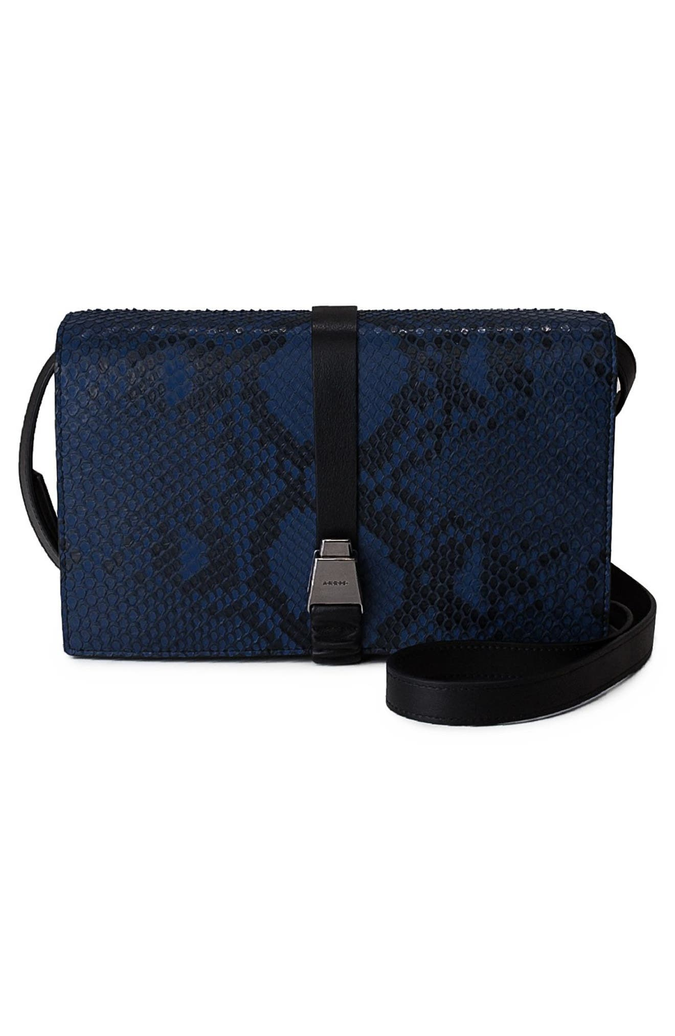 Alice Genuine Python Crossbody Bag,                             Alternate thumbnail 8, color,