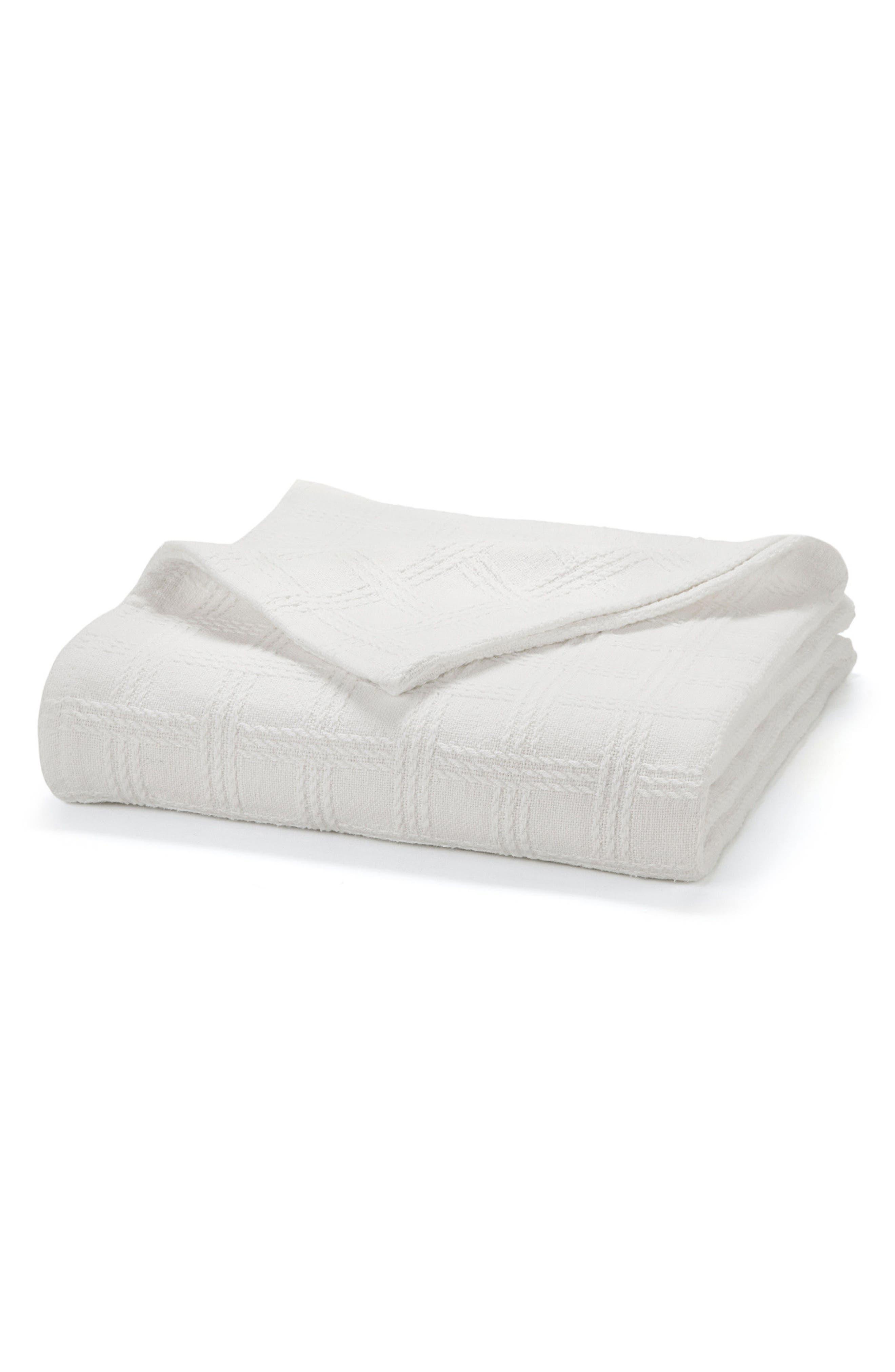 Classic Cotton Twin Size Blanket,                             Main thumbnail 1, color,                             100