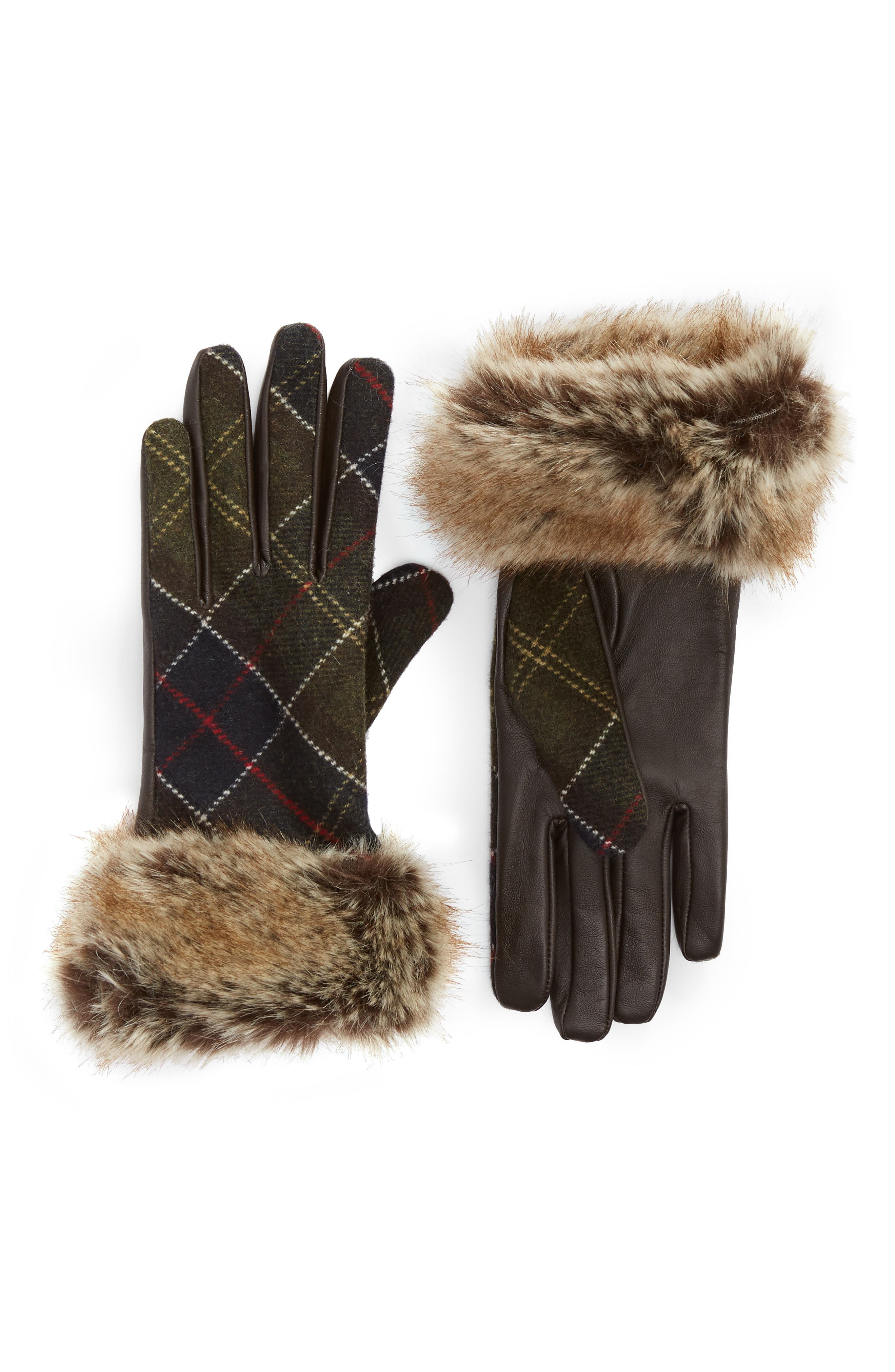 Linton Leather & Wool Gloves,                         Main,                         color, 230