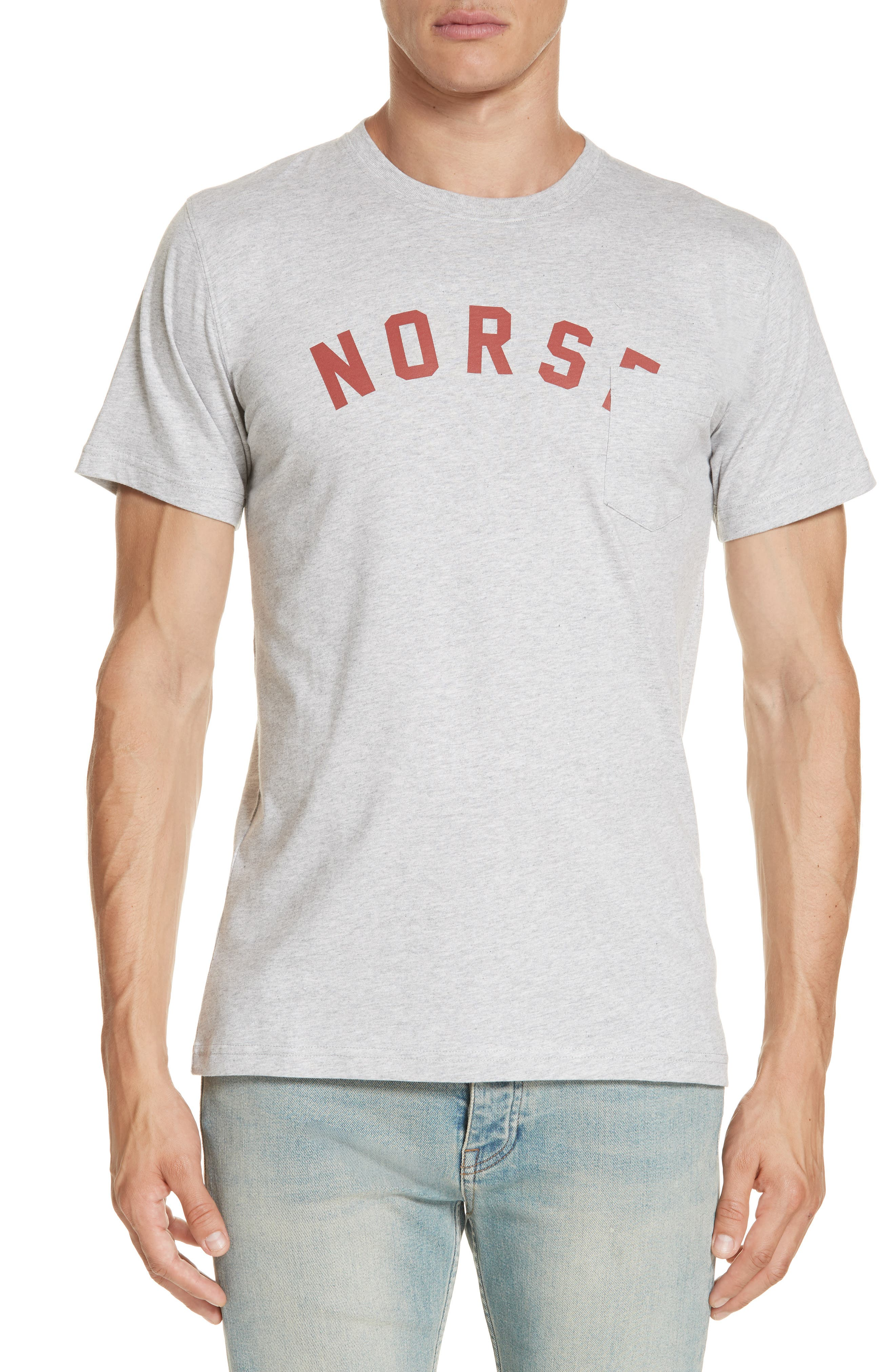 Niels Logo Pocket T-Shirt,                             Main thumbnail 1, color,                             GREY