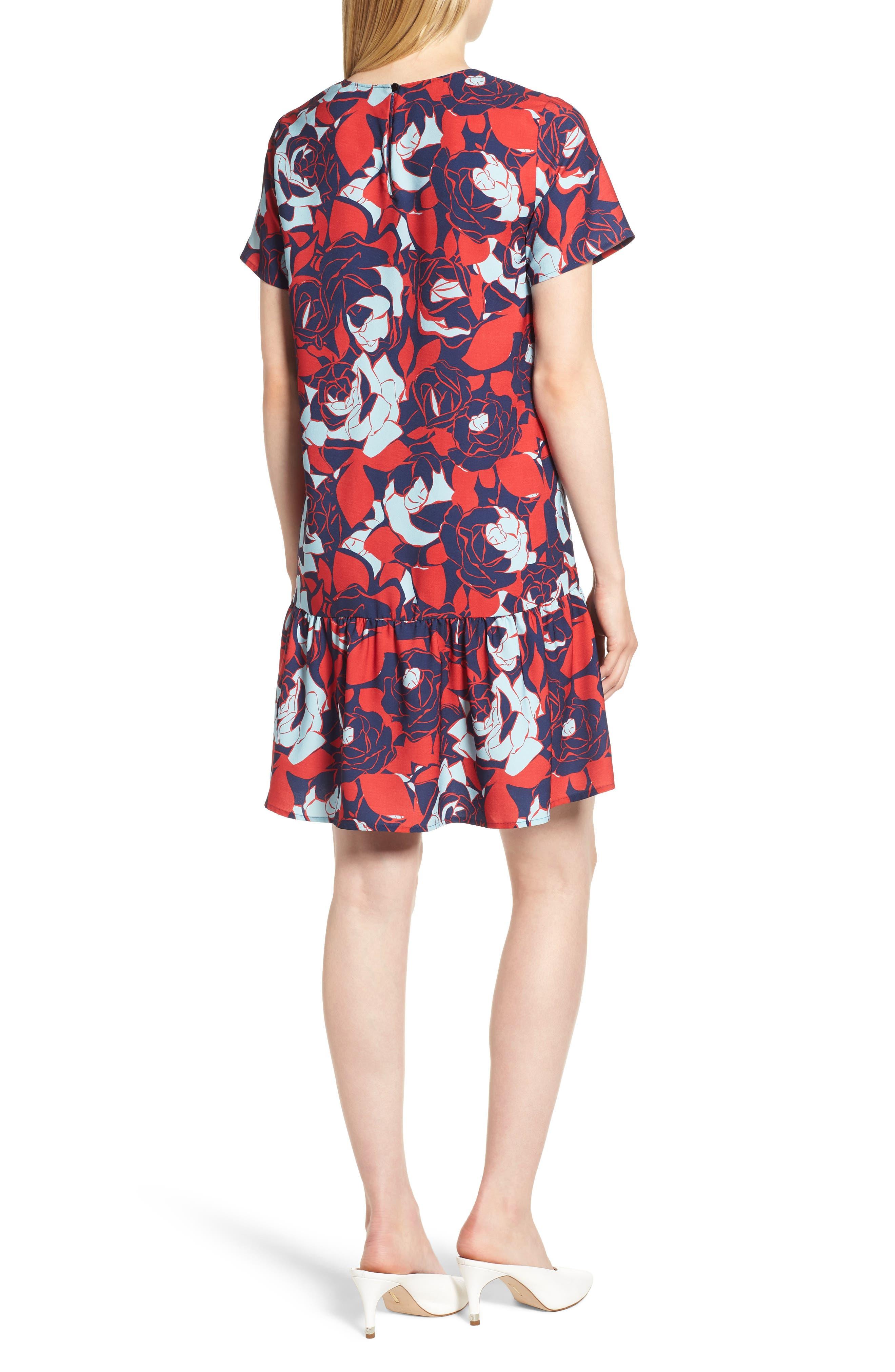 Short Sleeve Ruffle Hem Dress,                             Alternate thumbnail 12, color,