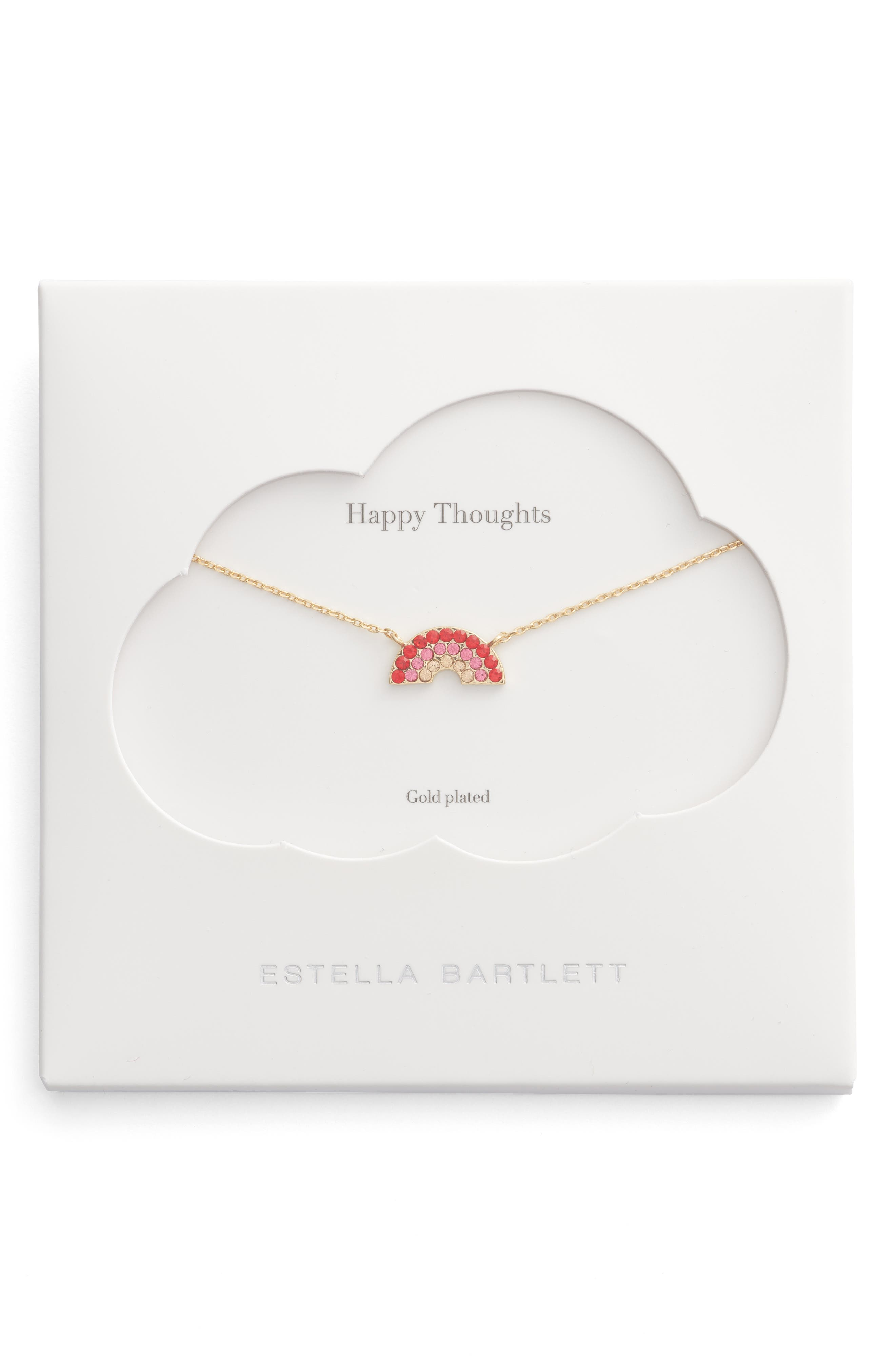 Happy Thoughts Rainbow Necklace,                         Main,                         color, 710