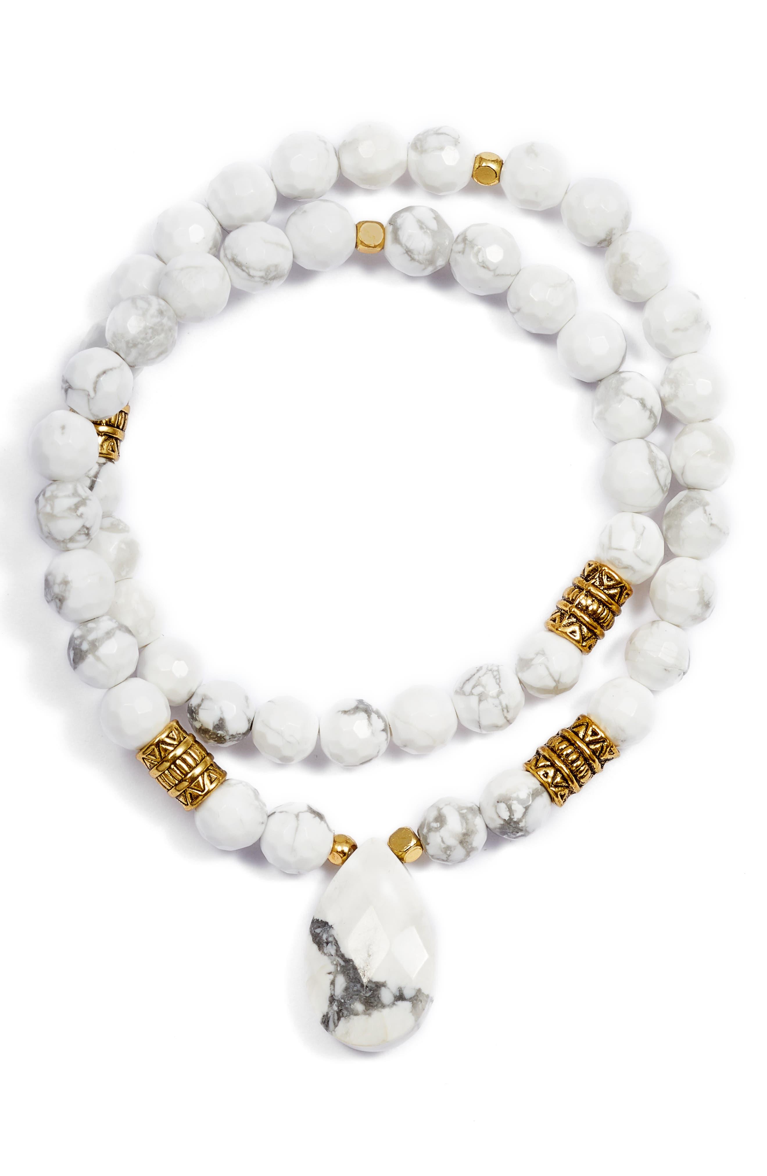 Inca Double Stretch Stone Bracelet,                             Main thumbnail 2, color,
