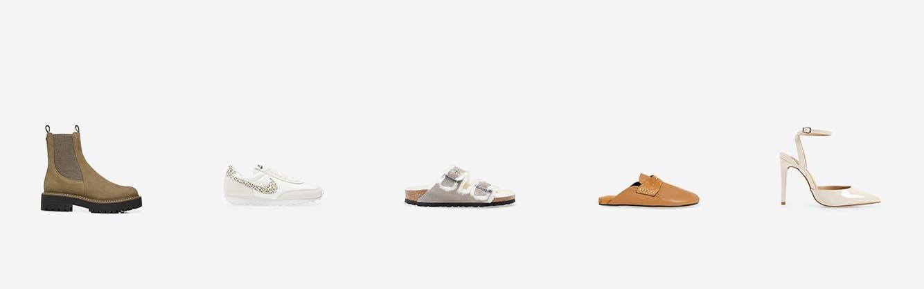 Women's shoes from Sam Edelman, Nike, Birkenstock, rag & bone and Steve Madden.