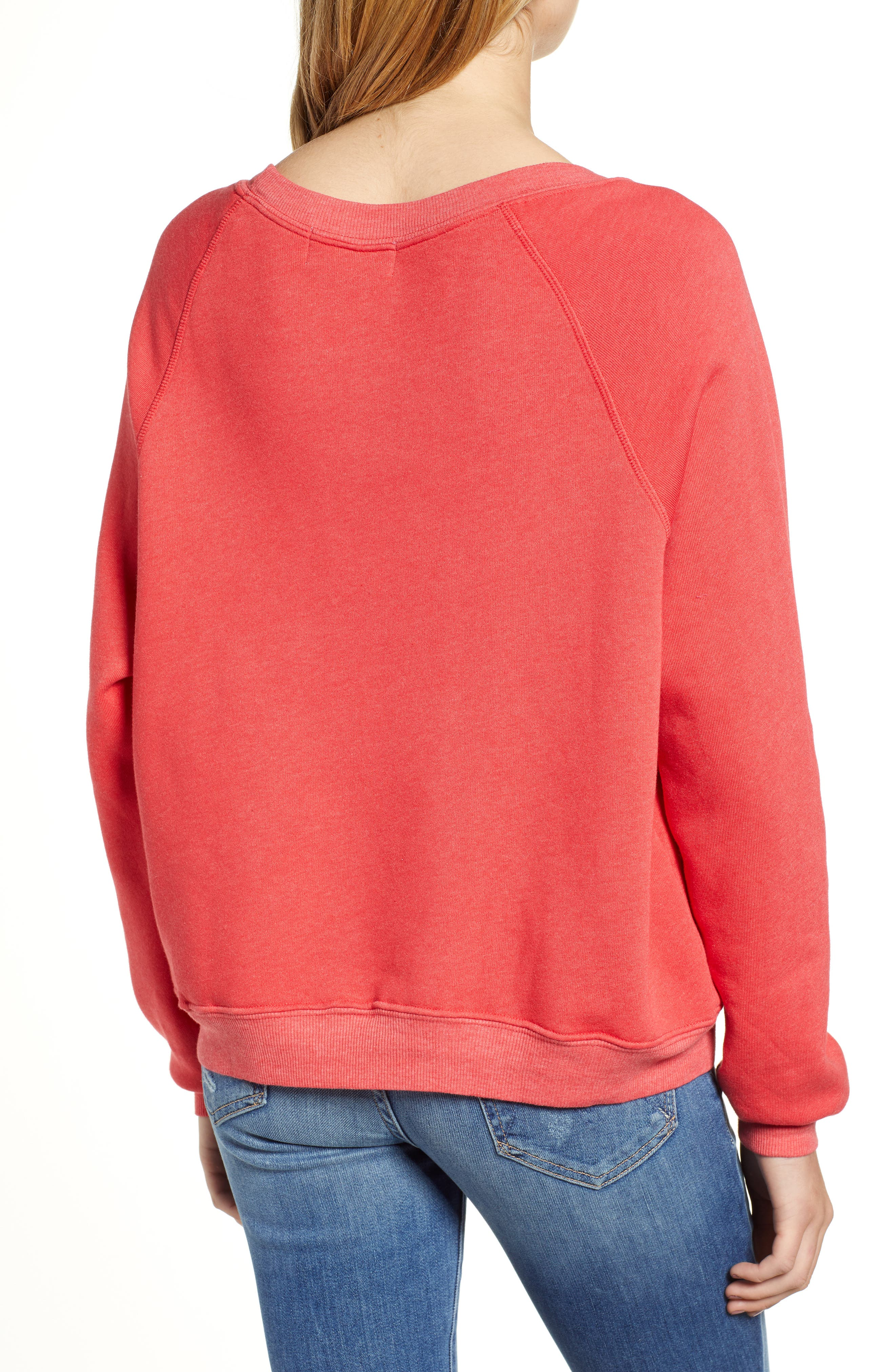 Monday Sommer Sweatshirt,                             Alternate thumbnail 2, color,                             SCARLET