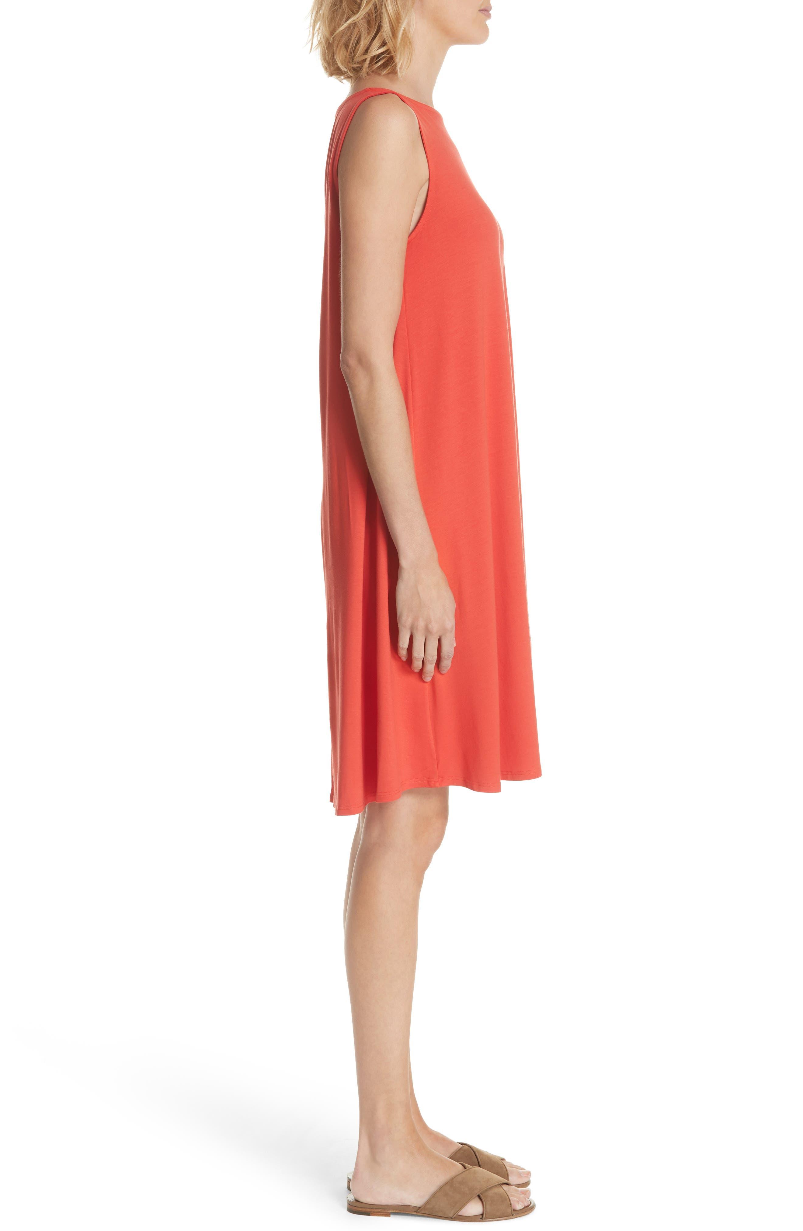 Lightweight Jersey Shift Dress,                             Alternate thumbnail 3, color,                             600