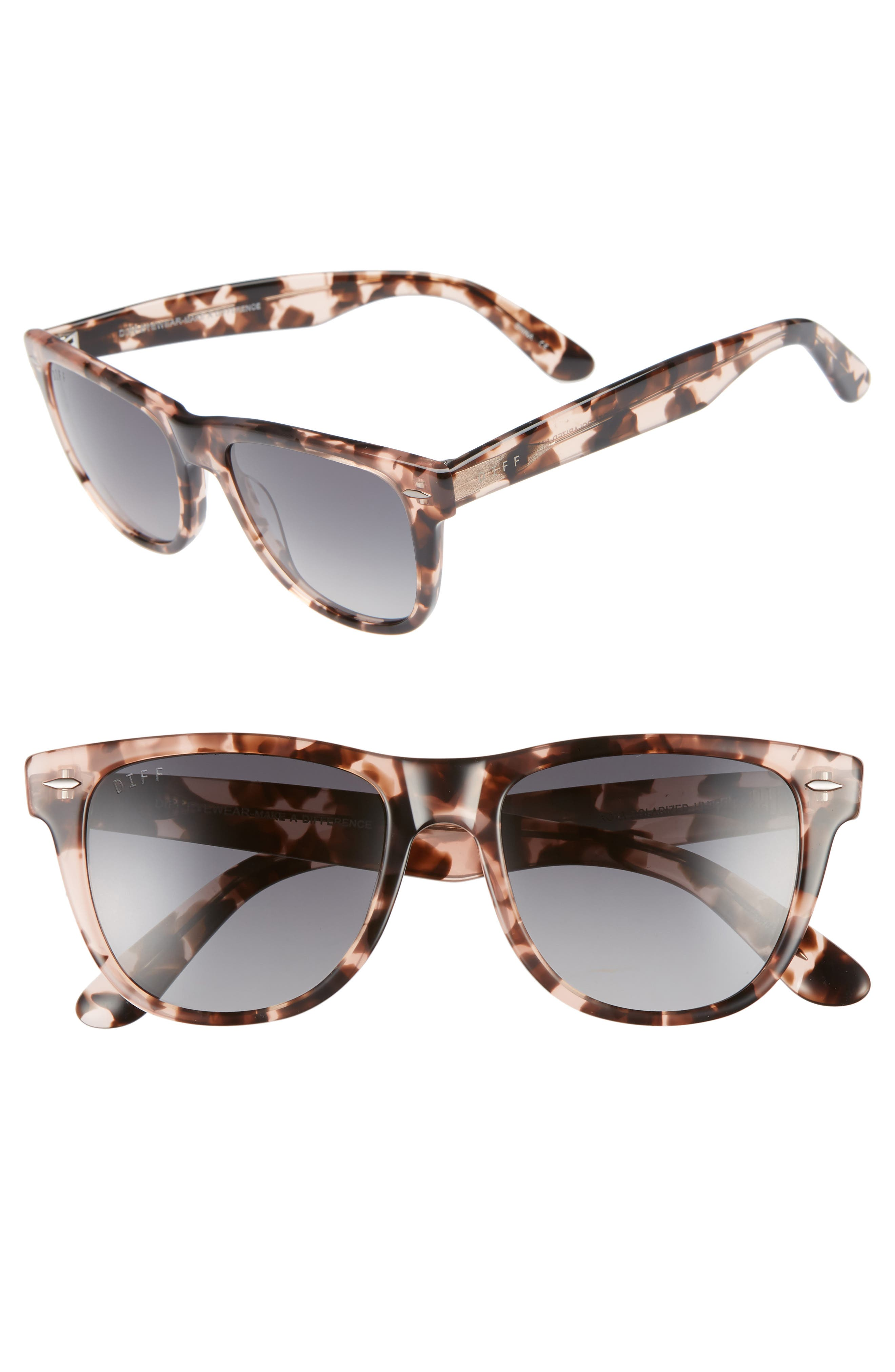 Kota 51mm Gradient Polarized Cat Eye Sunglasses,                         Main,                         color, HIMALYAN/ GREY