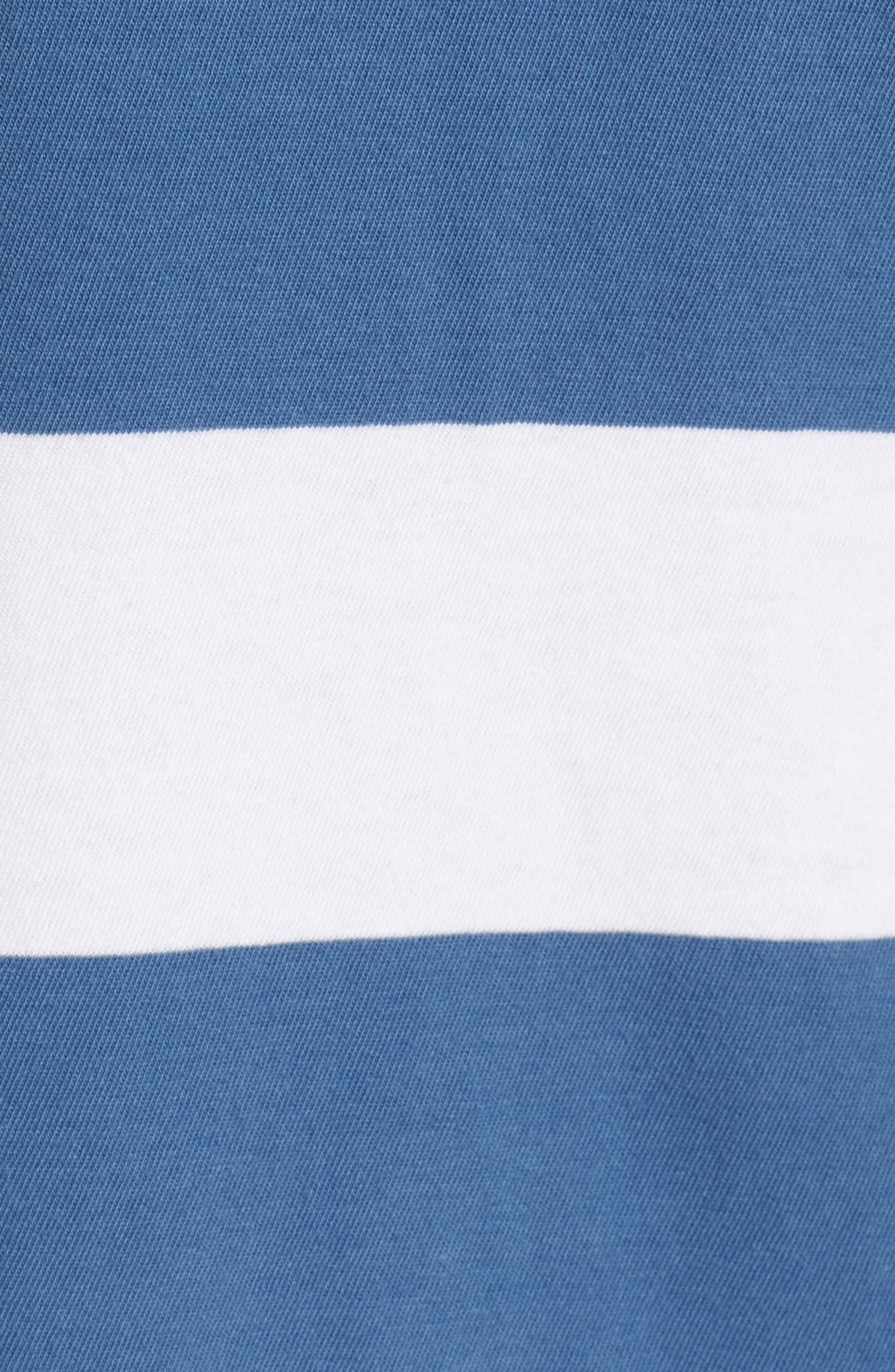 Rugby Stripe Tank,                             Alternate thumbnail 5, color,                             WHITE/ BLUE
