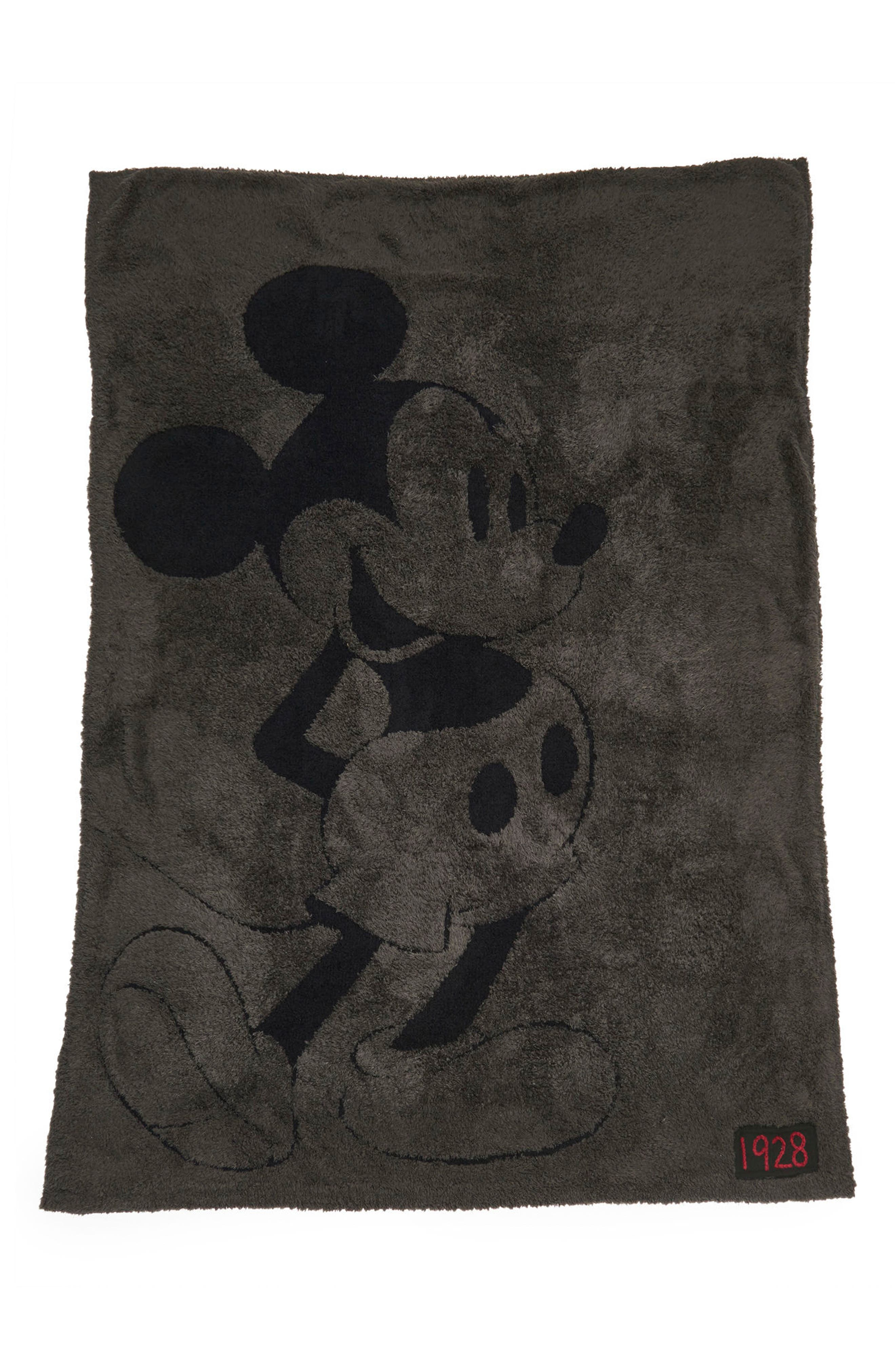 BAREFOOT DREAMS<SUP>®</SUP>,                             Disney<sup>®</sup> Classic Blanket,                             Main thumbnail 1, color,                             CARBON/ BLACK
