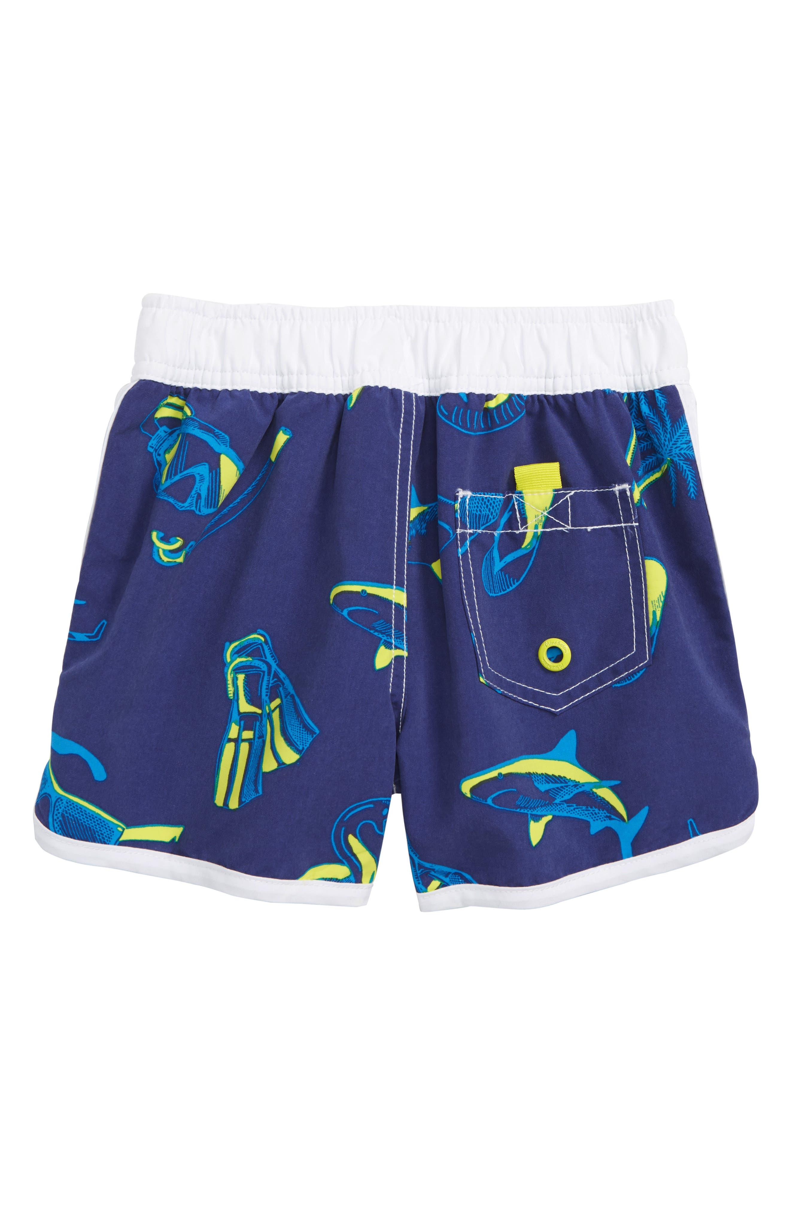 Surf Holiday Swim Trunks,                             Alternate thumbnail 2, color,                             STARBOARD BLUE
