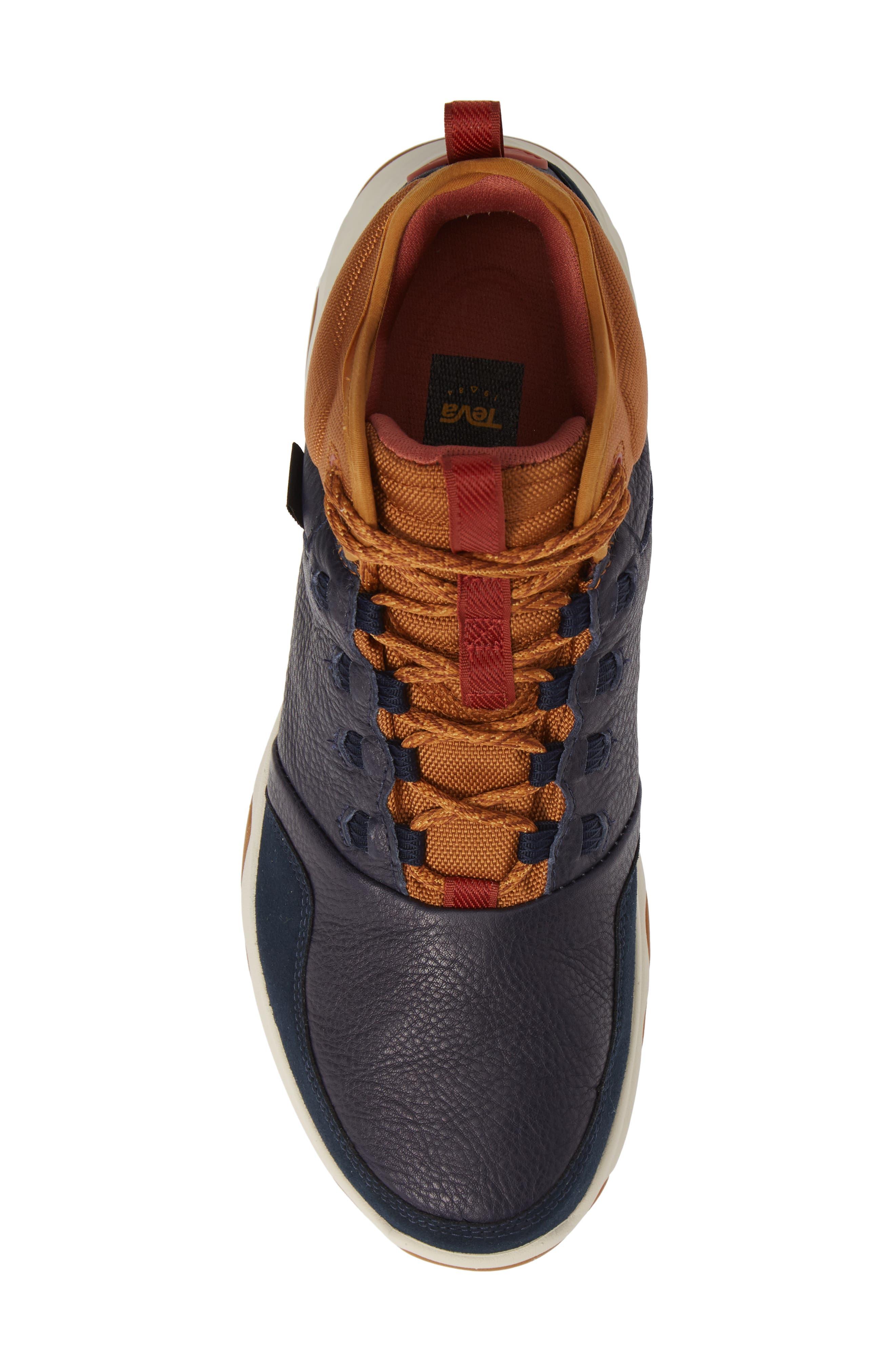 Arrowood 2 Mid Waterproof Sneaker Boot,                             Alternate thumbnail 5, color,                             MIDNIGHT NAVY LEATHER