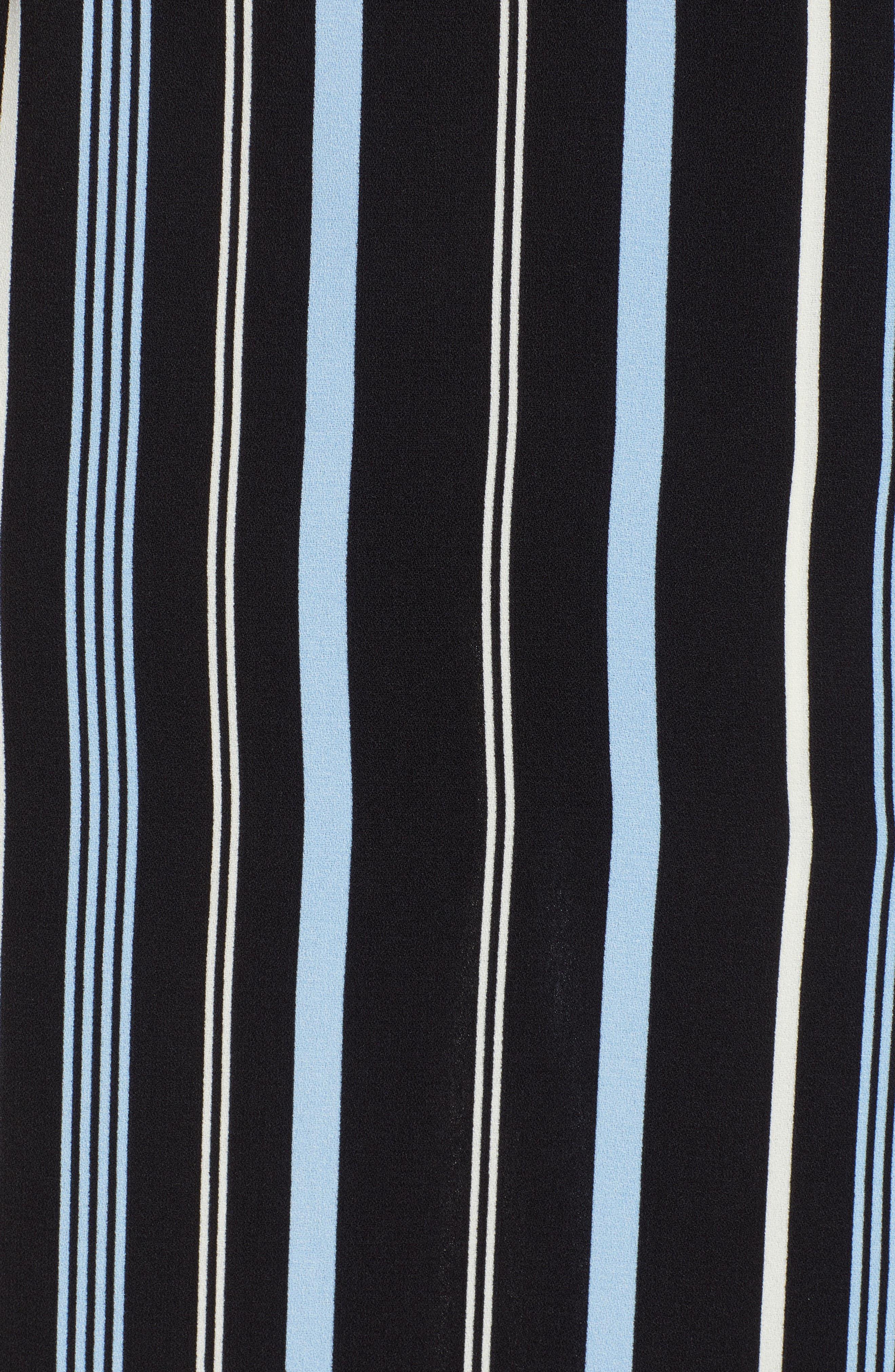 Button Wrap Skirt,                             Alternate thumbnail 6, color,                             BLACK MULTI COLORED STRIPE