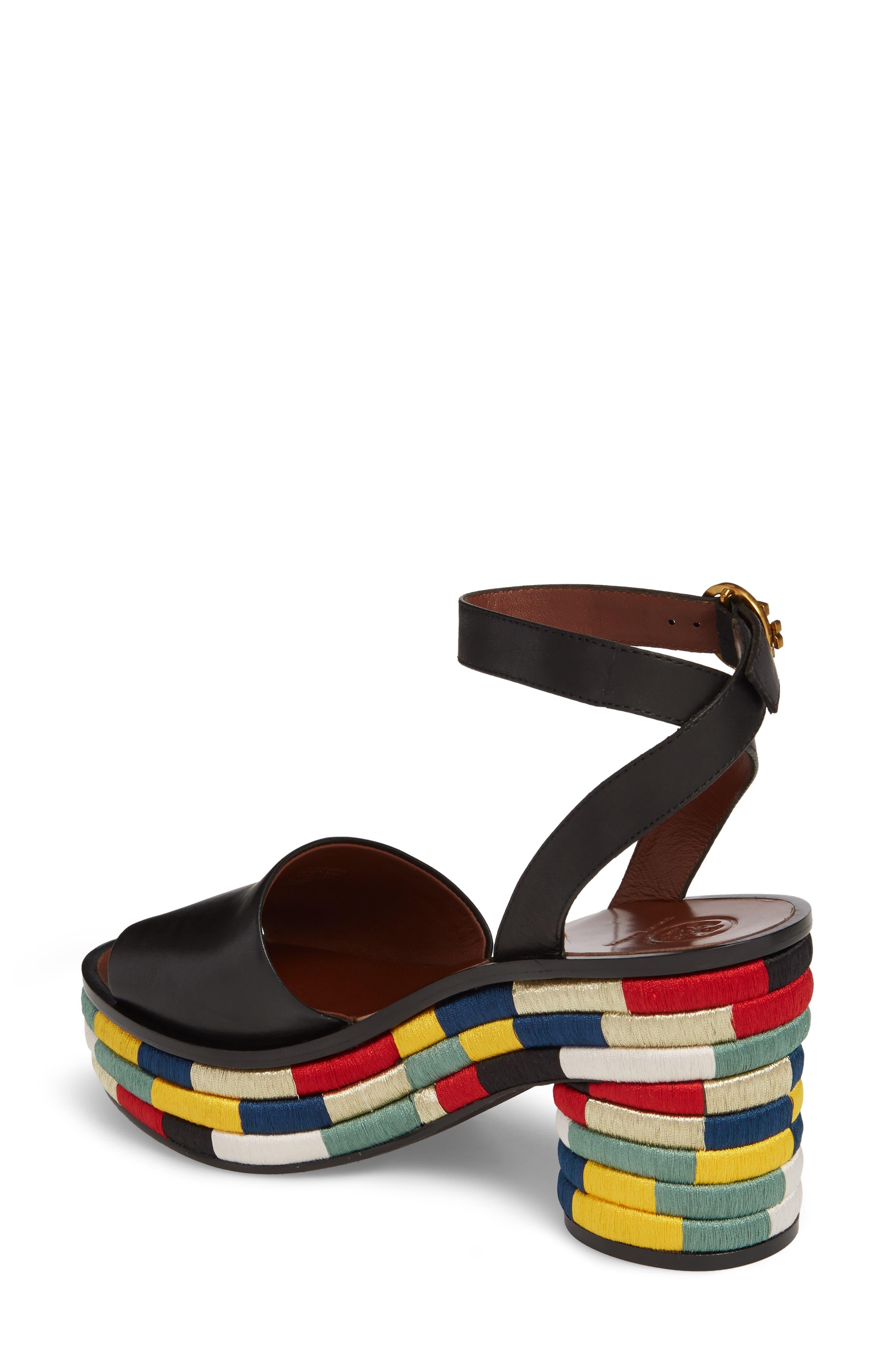Camilla Embroidered Platform Sandal,                             Alternate thumbnail 2, color,