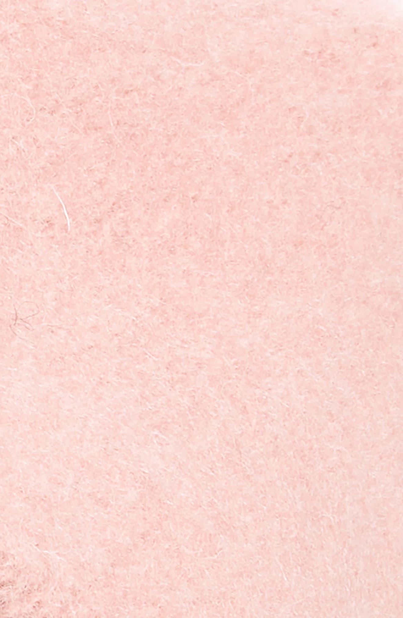 Grommet Brim Wool Beret,                             Alternate thumbnail 2, color,                             PINK