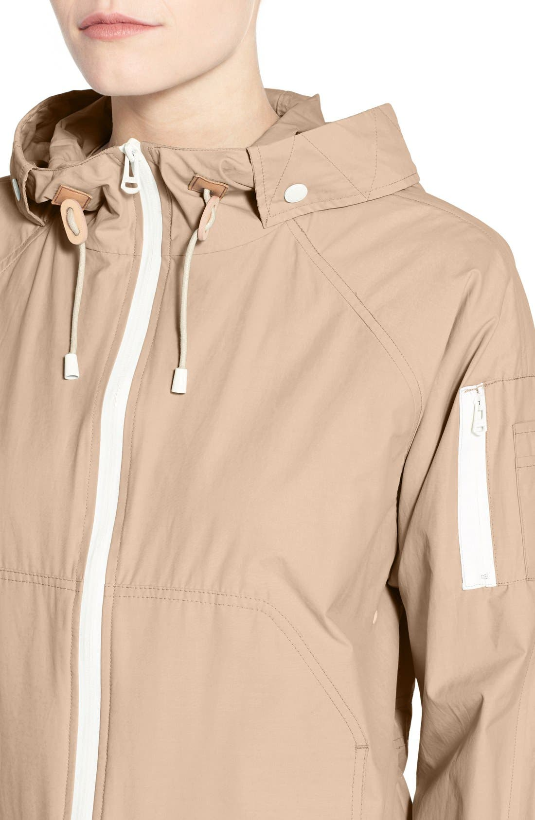 Sporty Hooded Jacket,                             Alternate thumbnail 3, color,                             CANYON ROSE