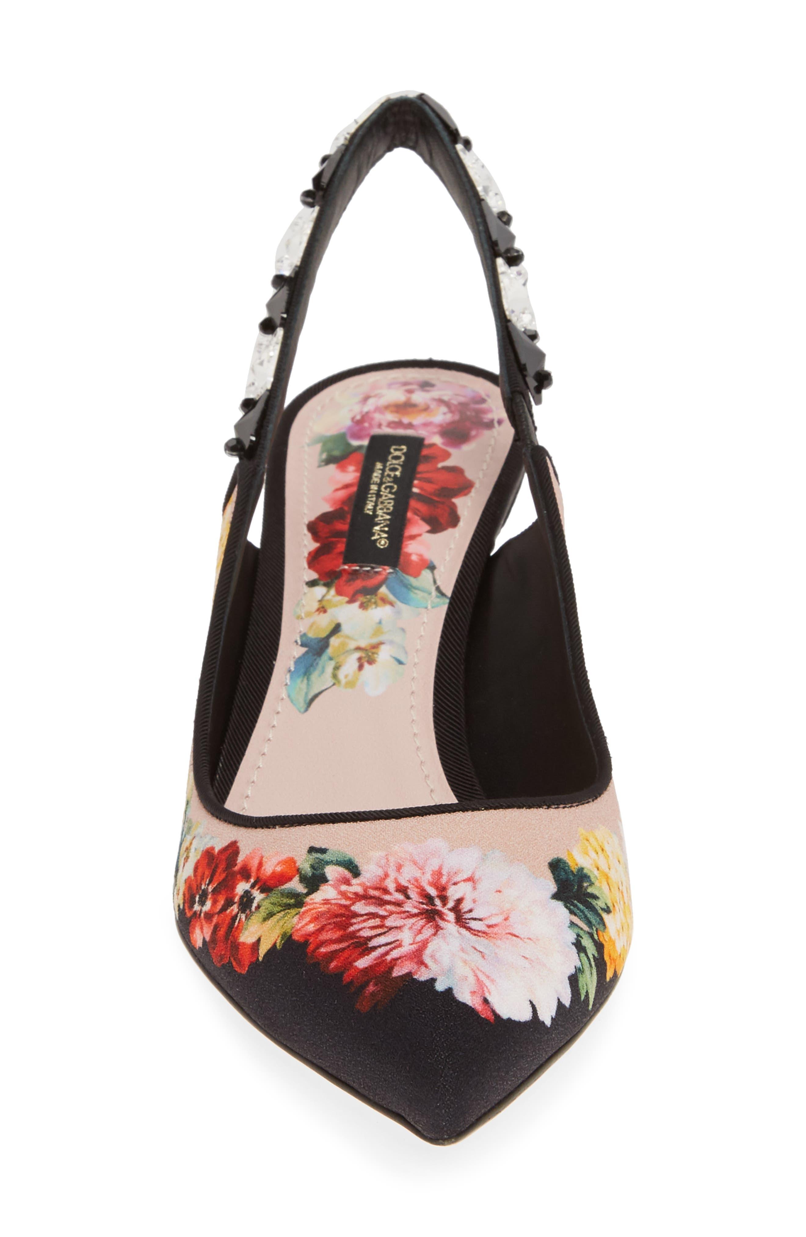 Floral Slingback Pump,                             Alternate thumbnail 4, color,                             FLORAL PRINT