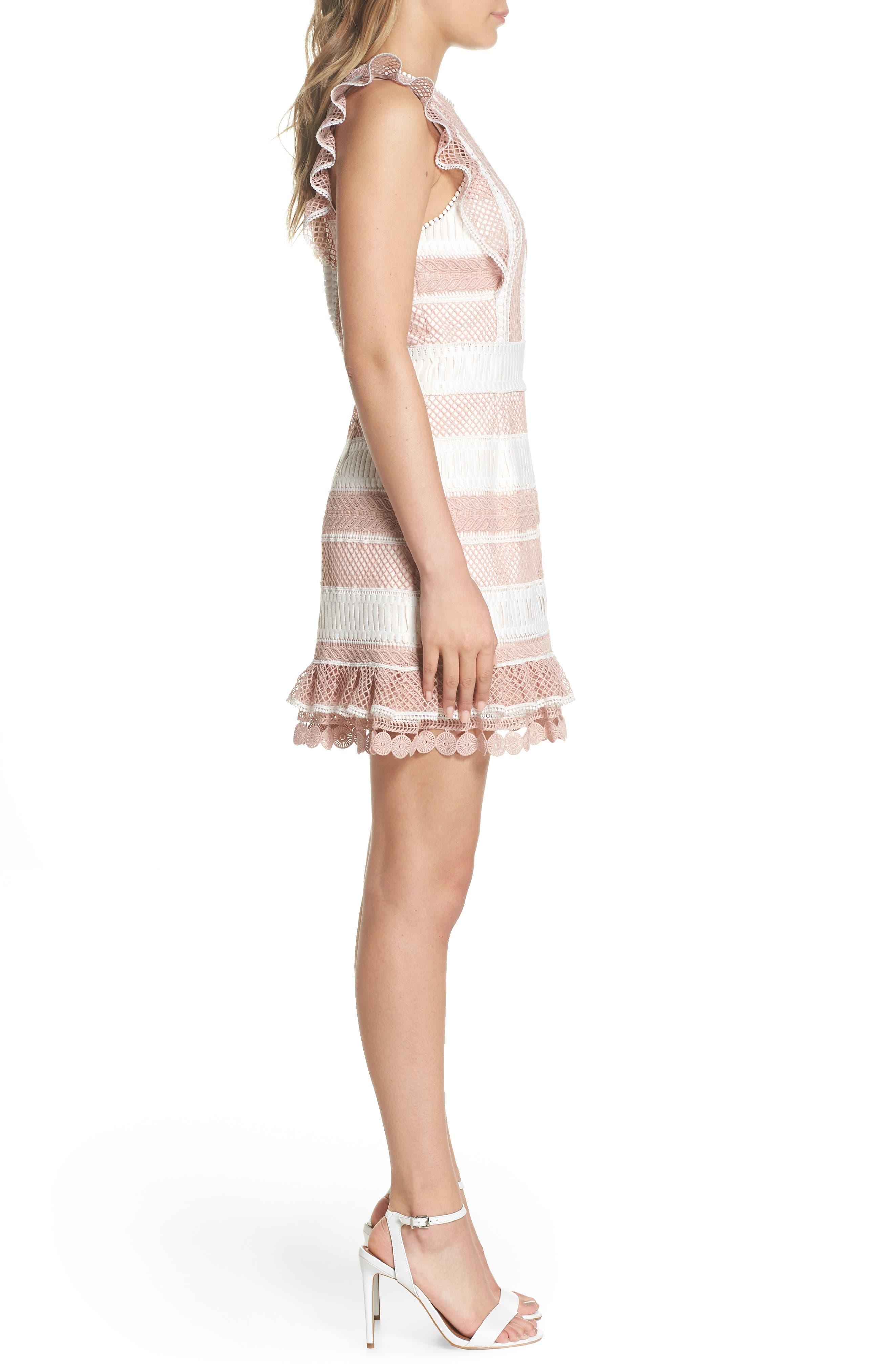 Kingston Stripe Lace Sheath Dress,                             Alternate thumbnail 3, color,                             661
